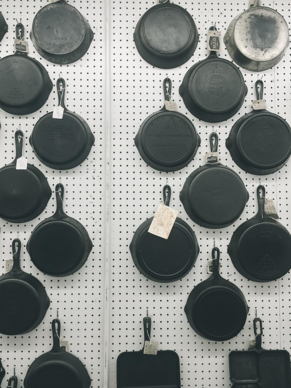 vintage cast iron pans