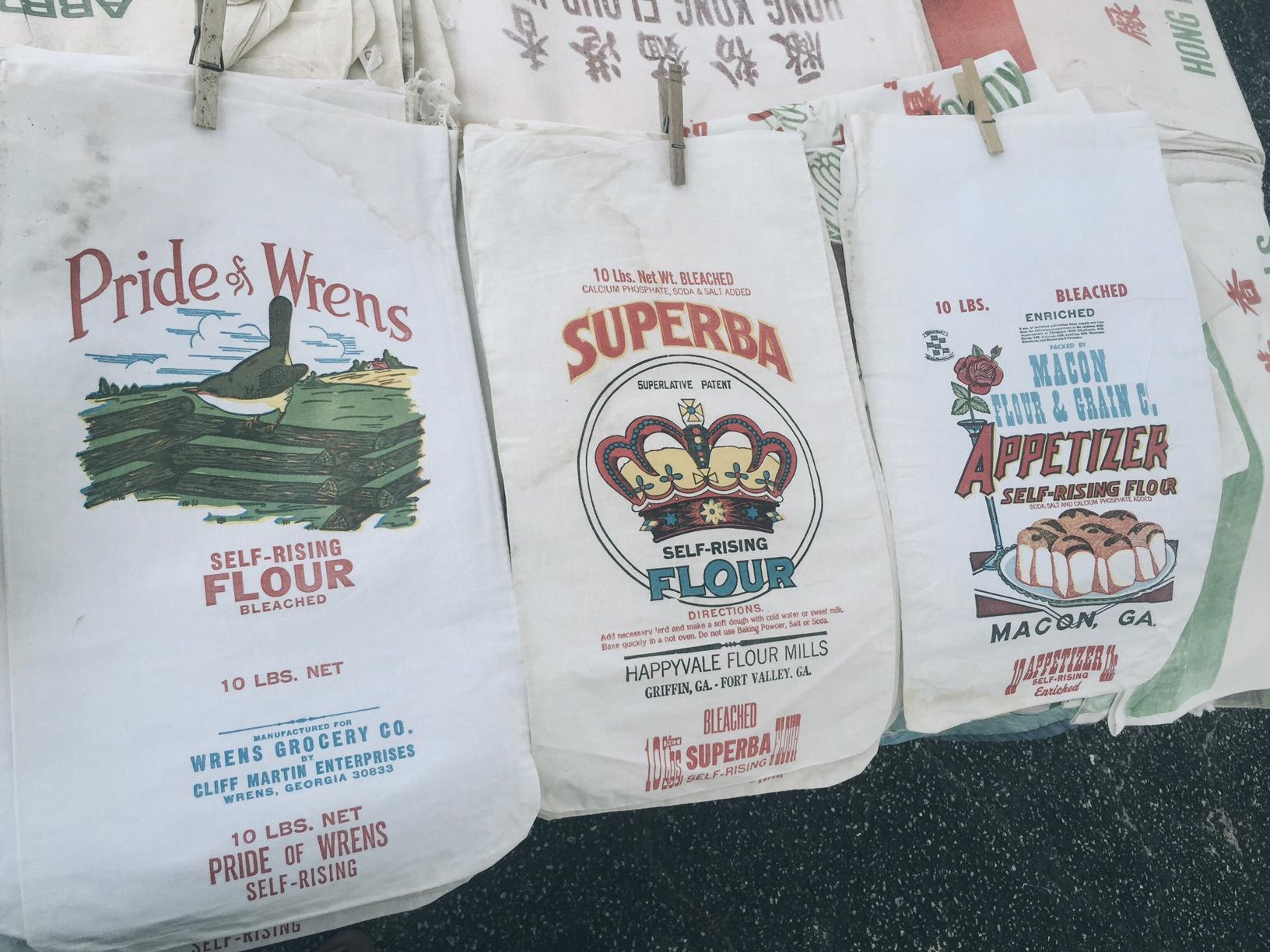 vintage southern flour bags