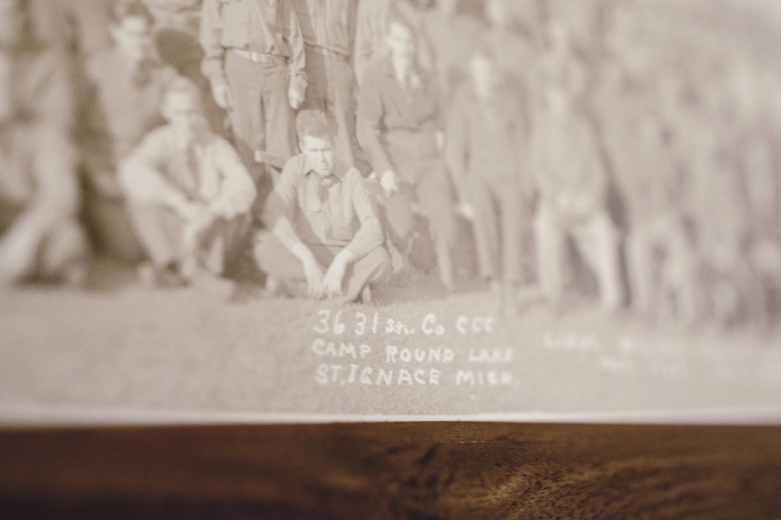 handwritten photo detail