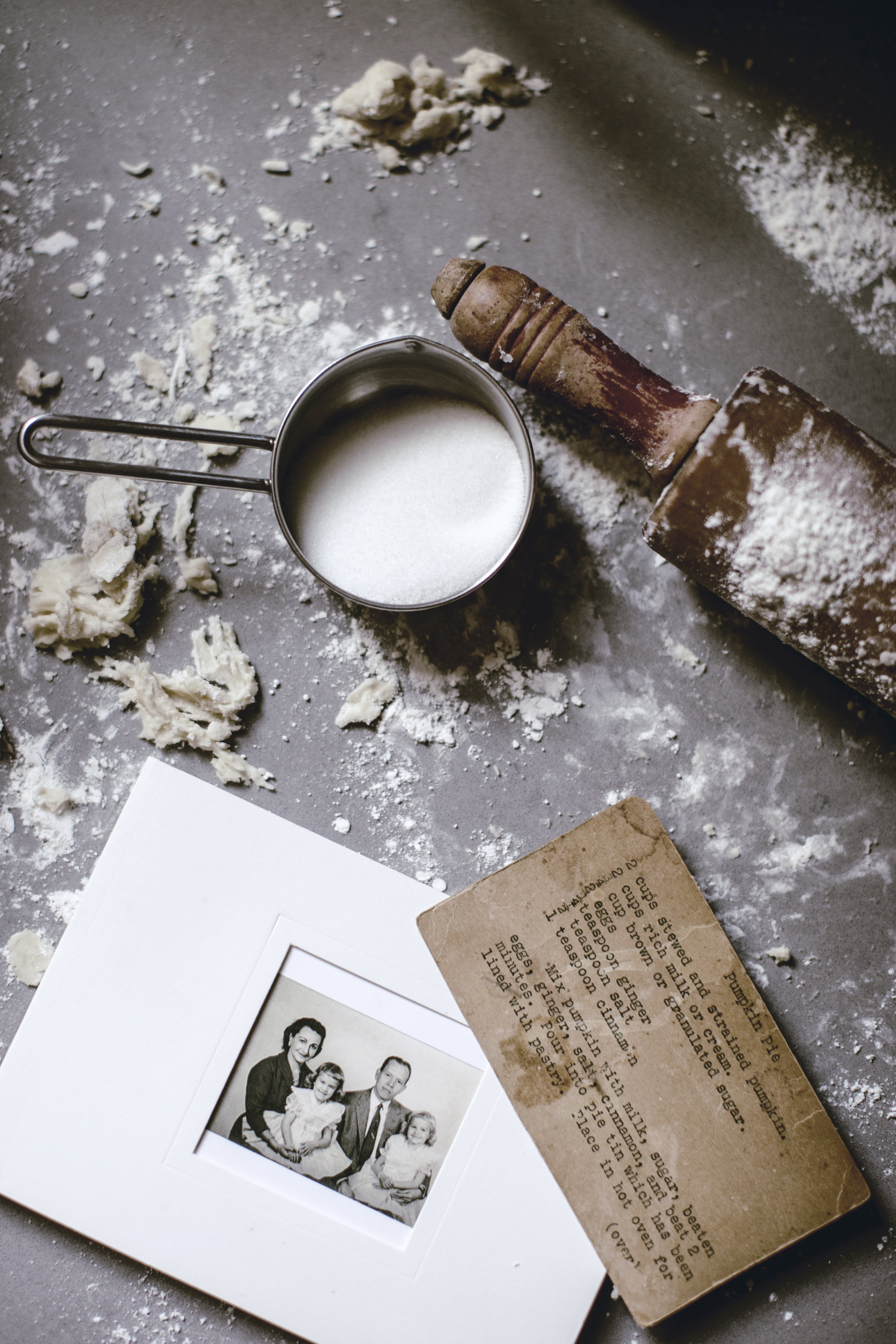 old family recipe card and DIY photo book / heirloomed
