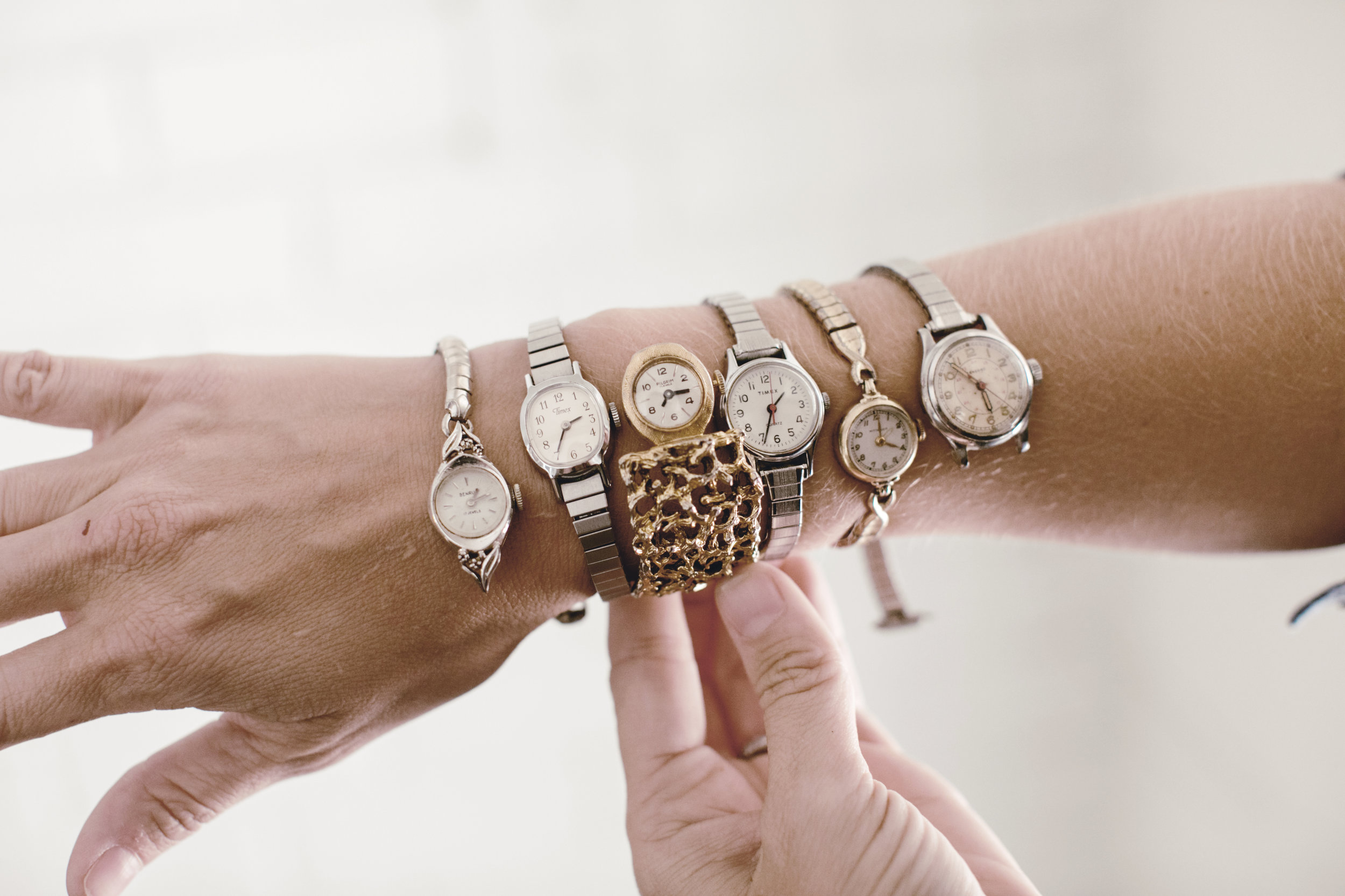 Collection of tiny vintage wrist watches / heirloomed