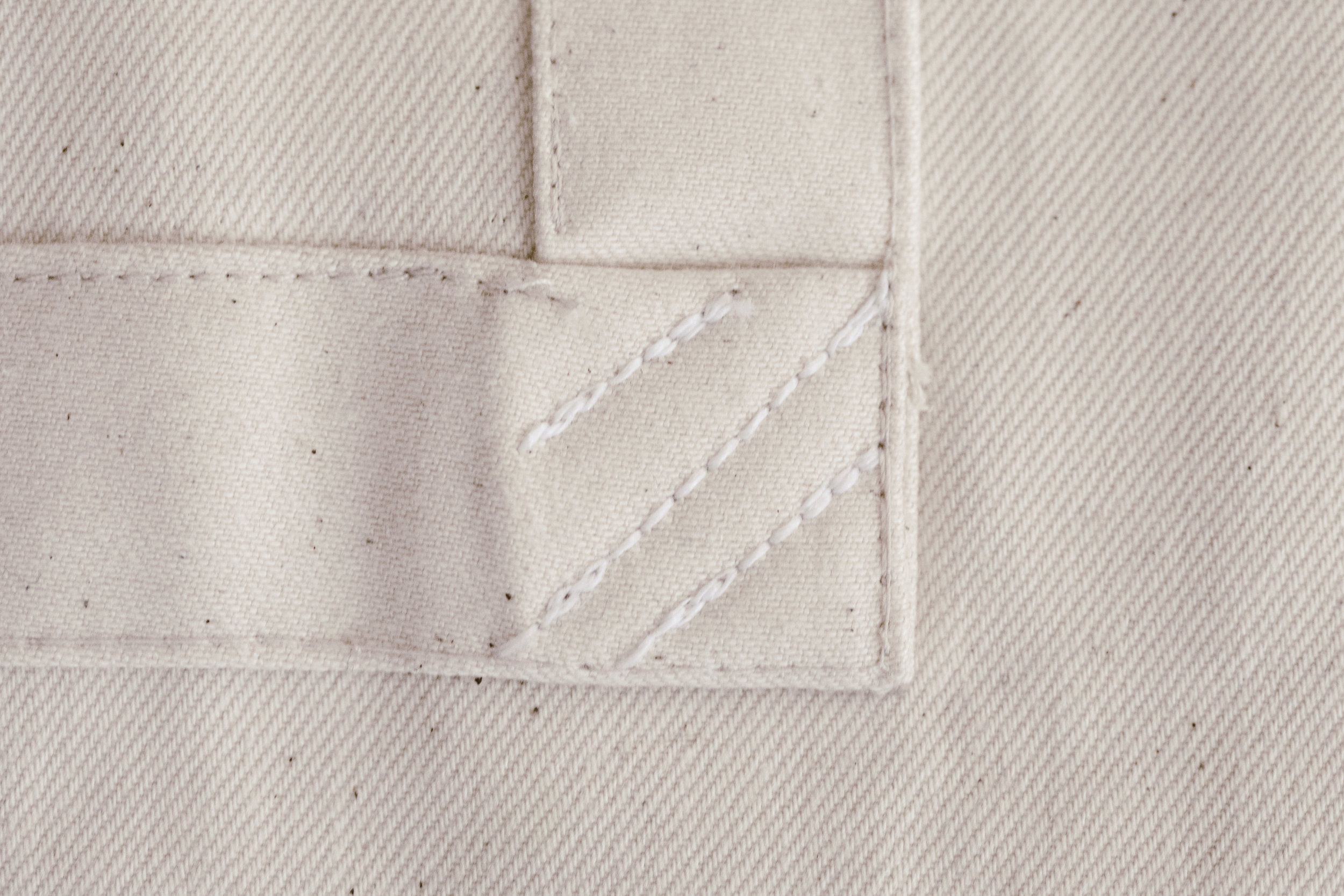 Studio apron stitch details / heirloomed