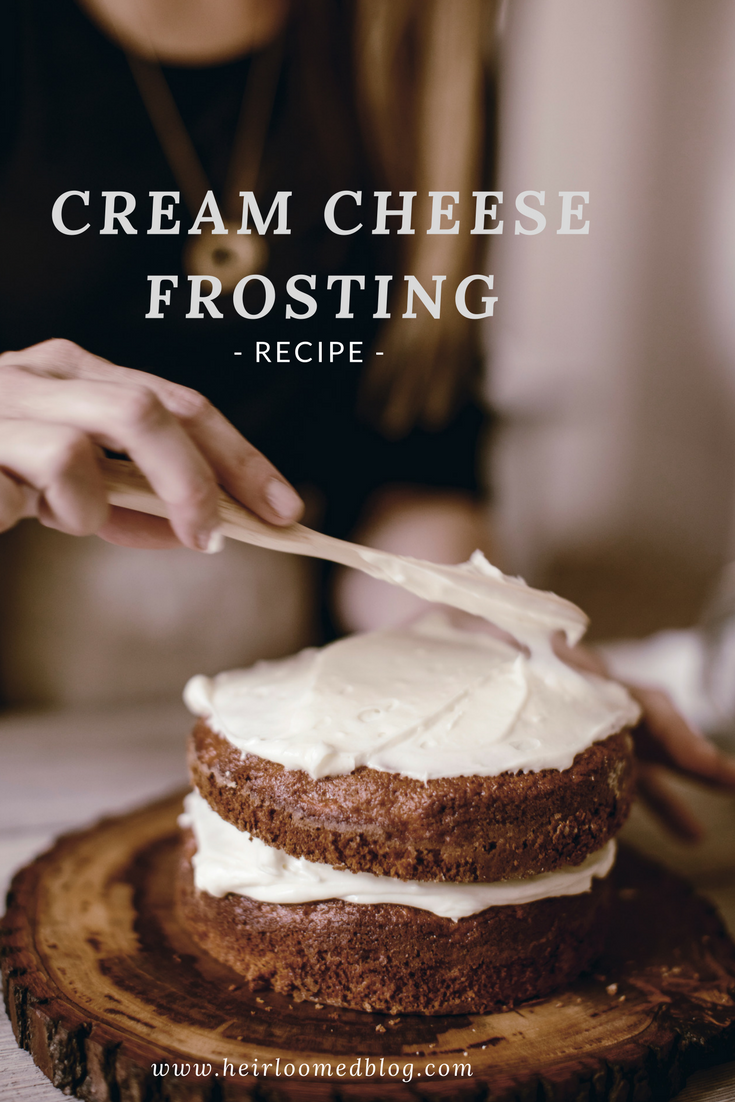 Classic Cream Cheese Frosting recipe / heirloomed