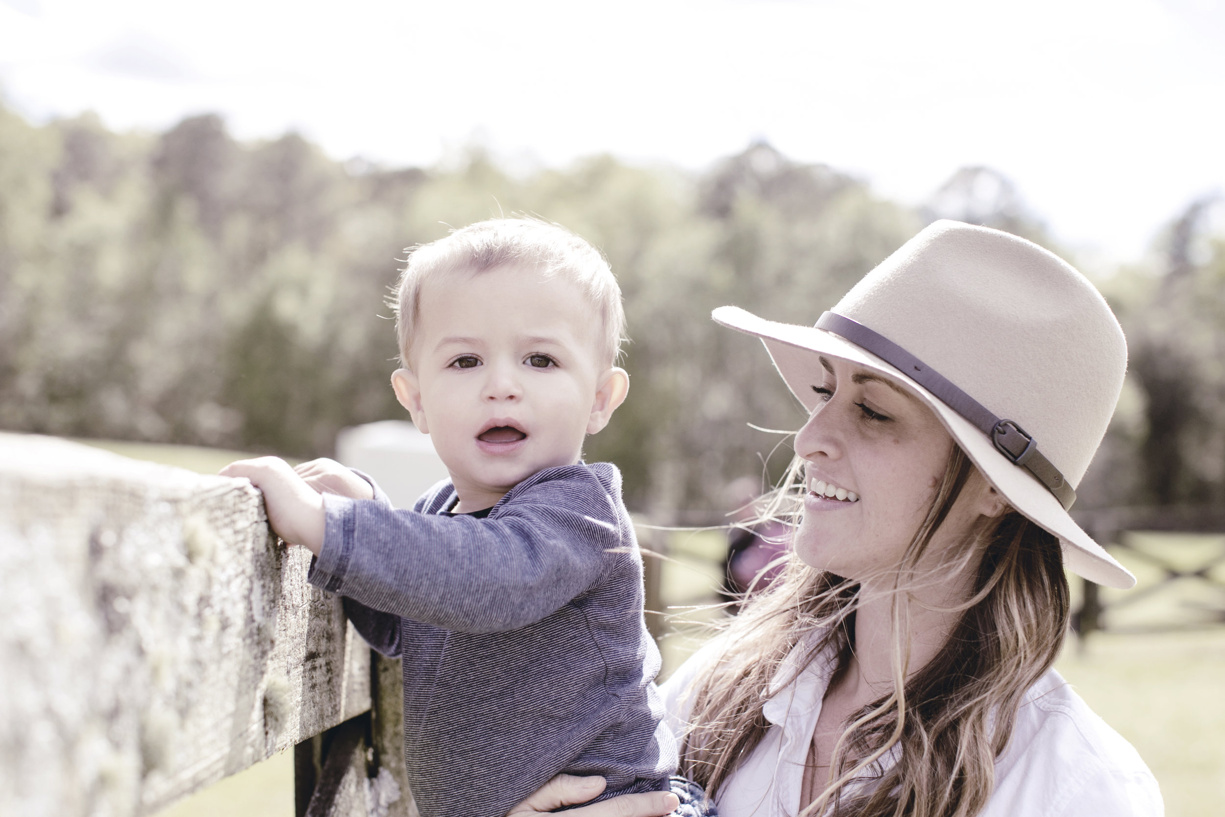 mom and babe at the farm / heirloomed