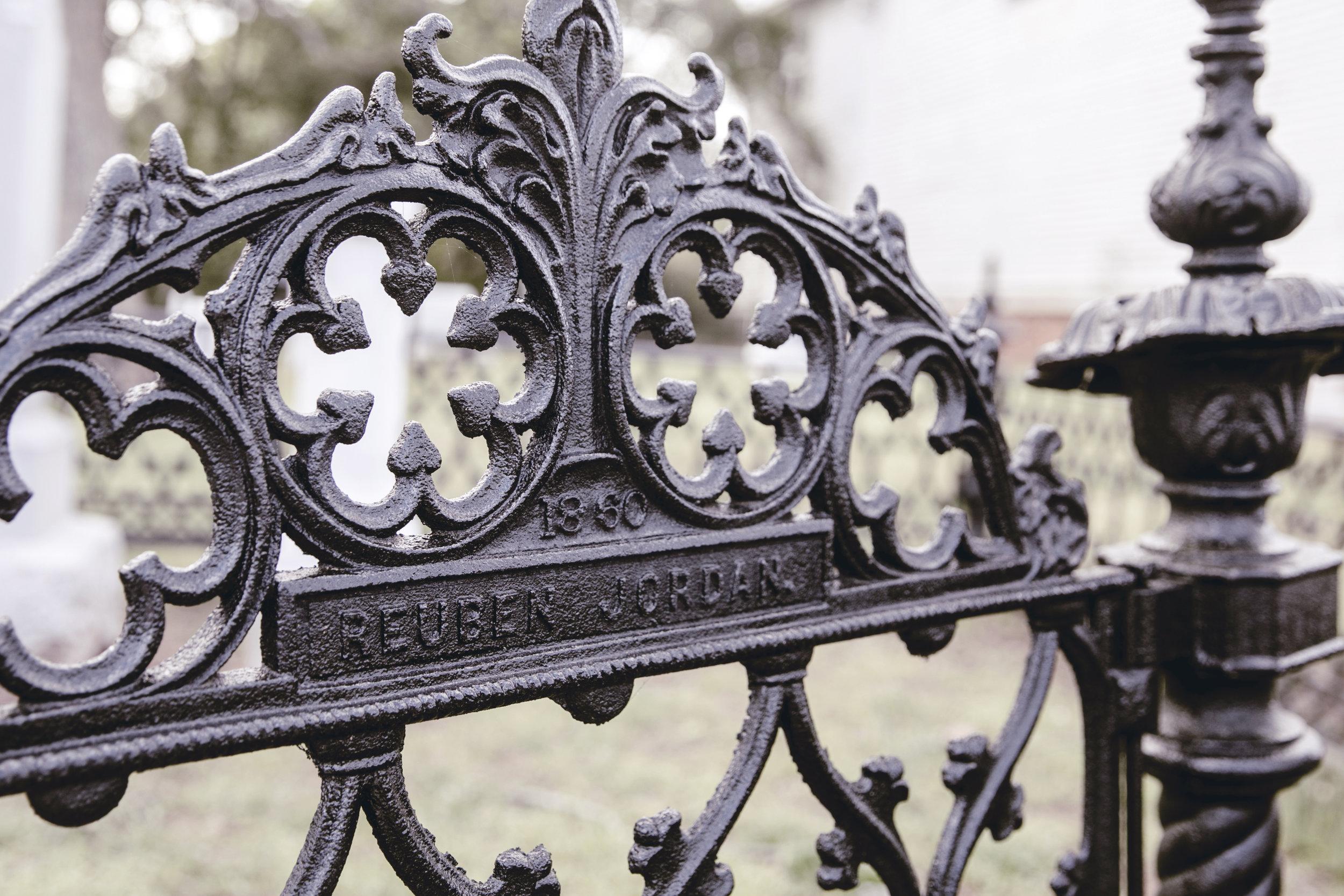 cemetery gate in Monticello Georgia