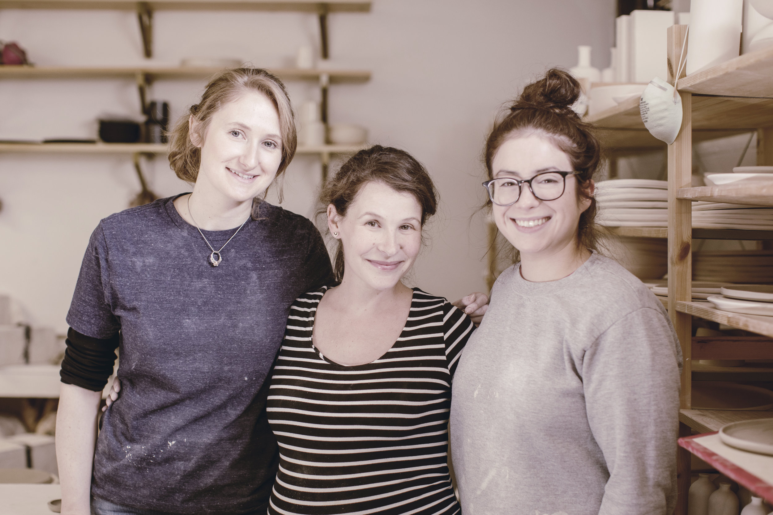 The ceramics team at Honeycomb Studio