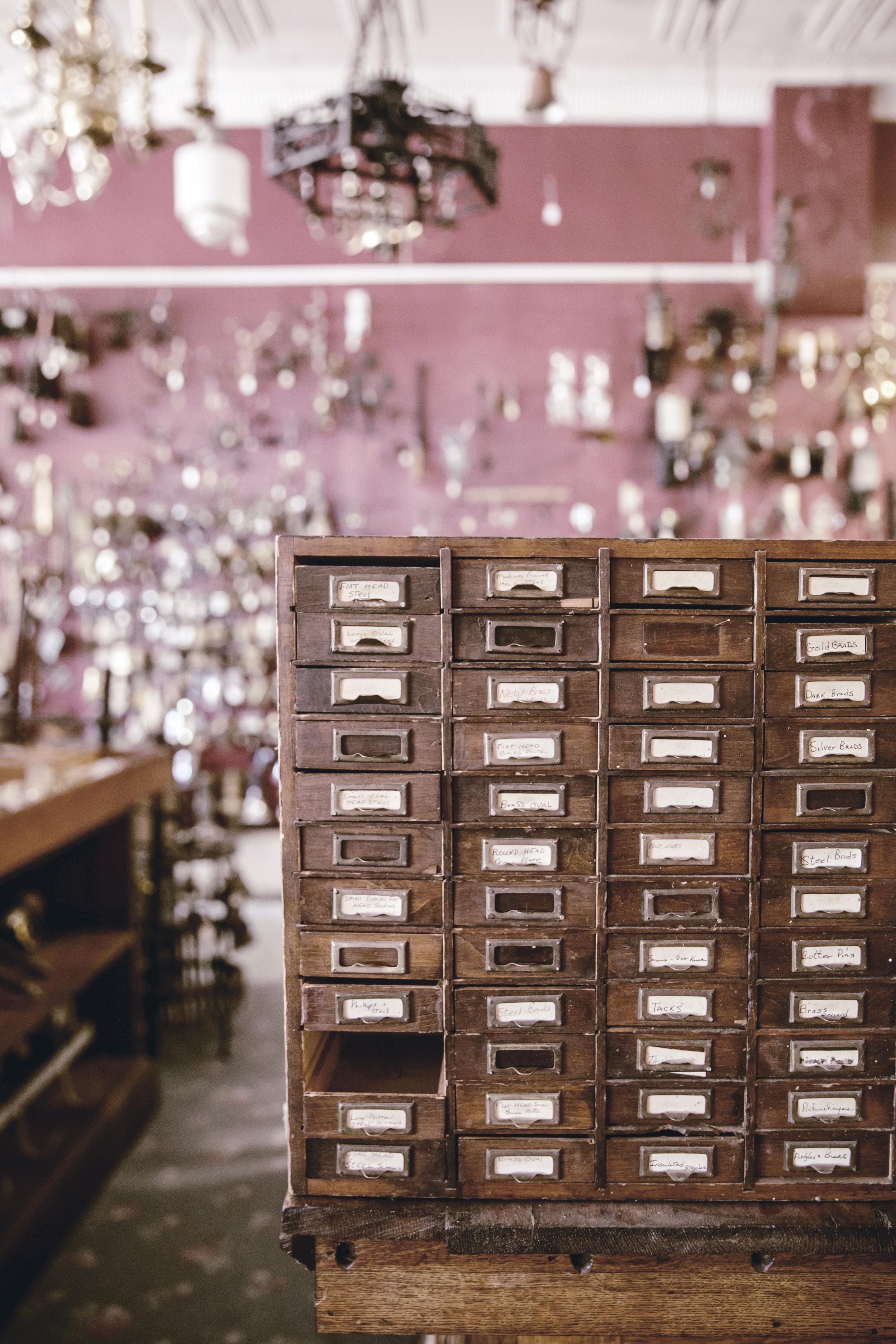 antique hardware store interior / heirloomed