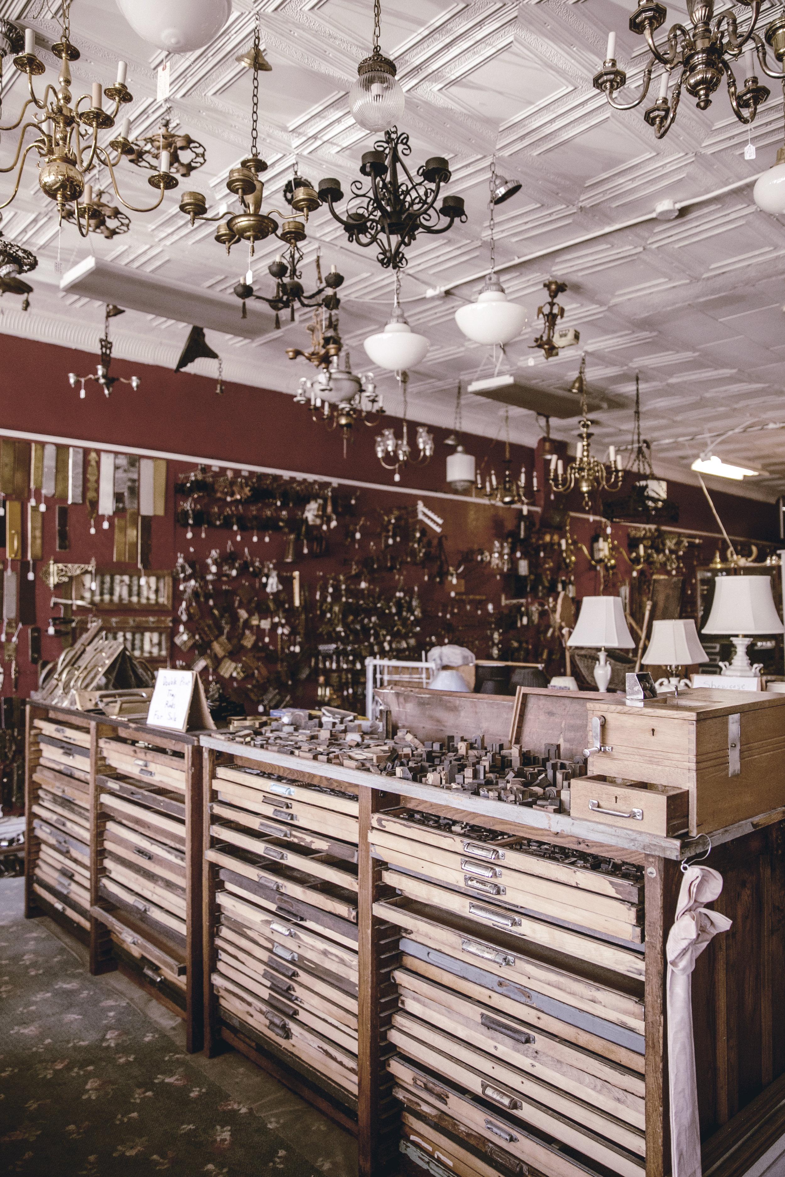 vintage printing drawers / heirloomed