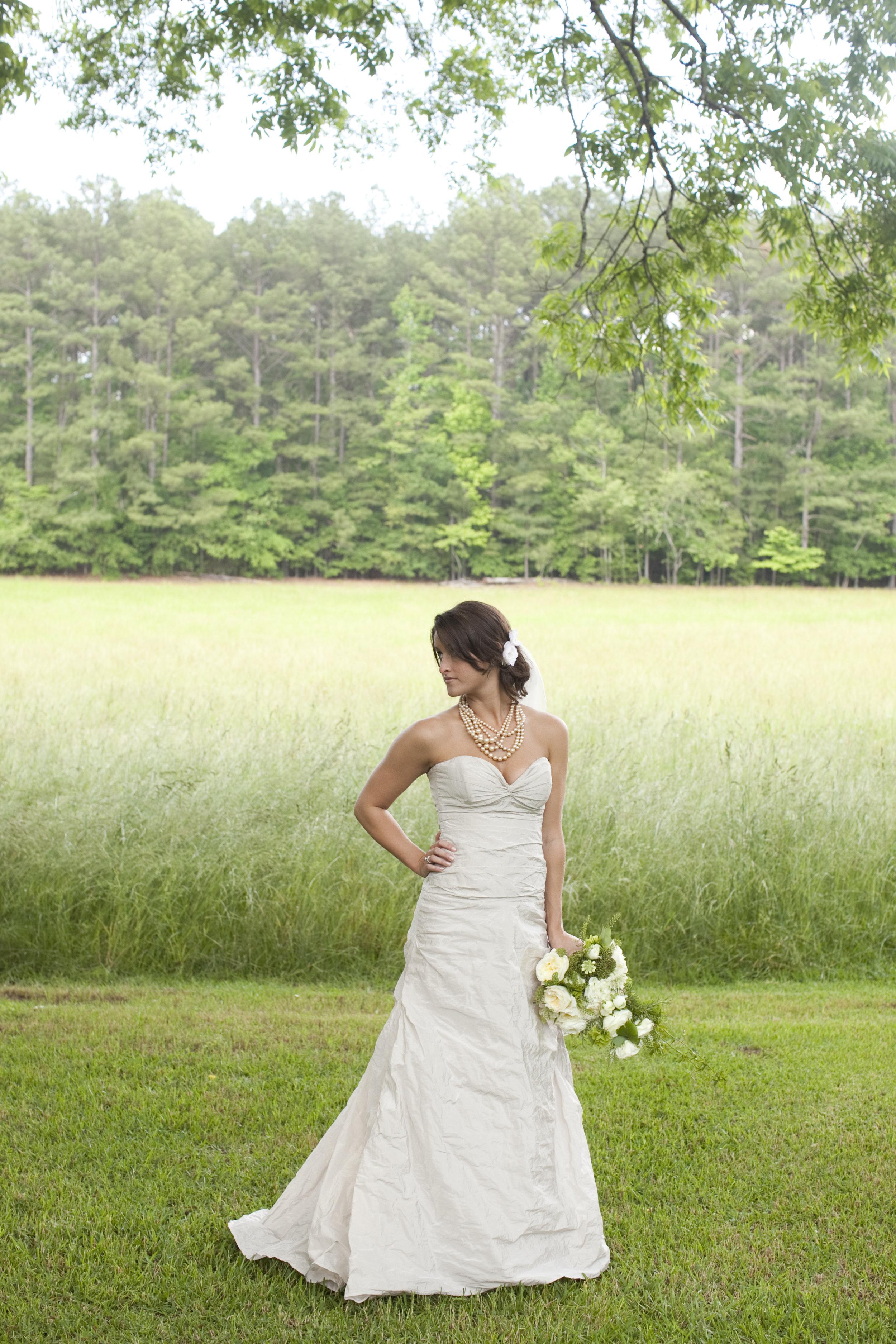 outdoor bride / heirloomed
