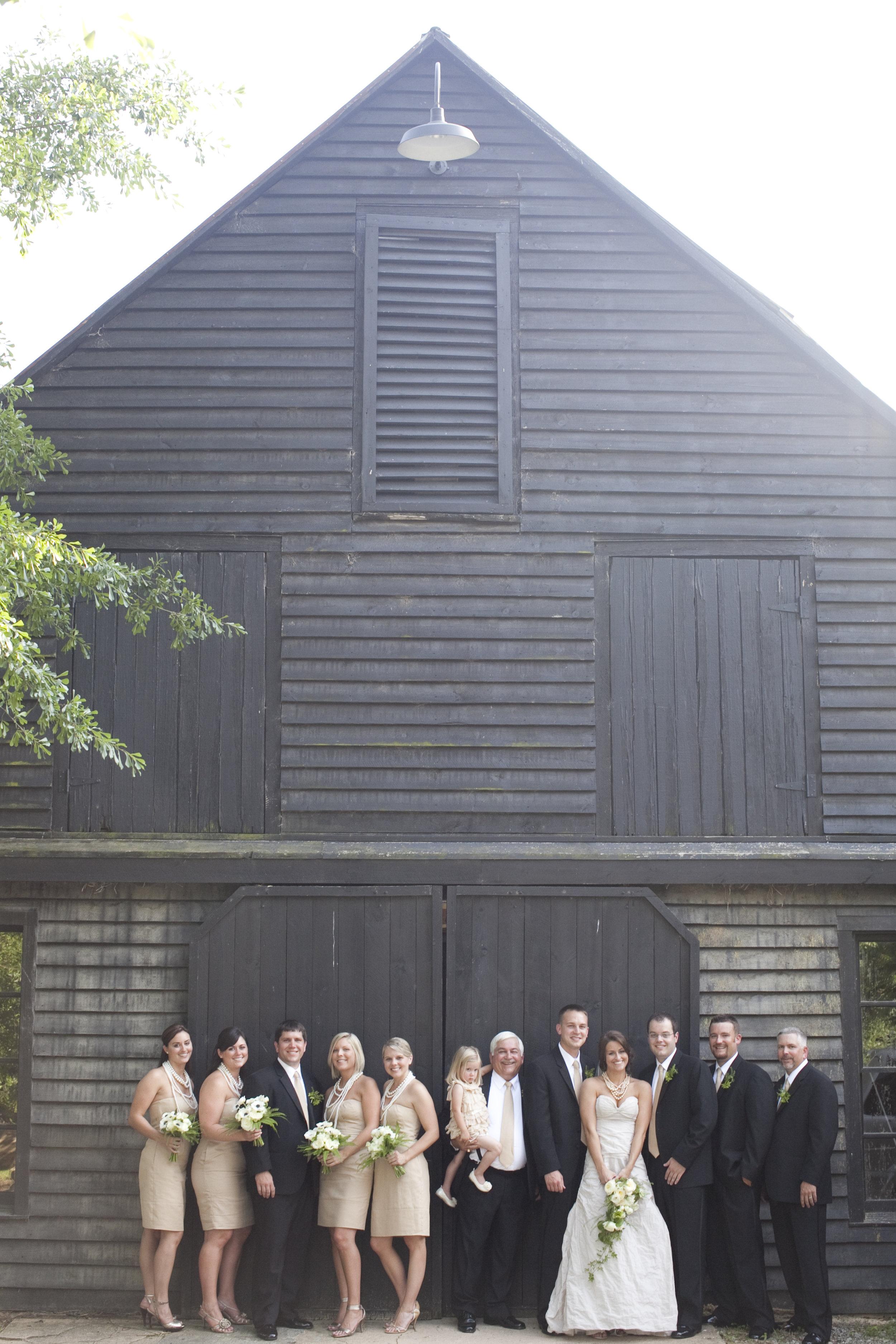 bridal party / serenbe farm wedding / heirloomed