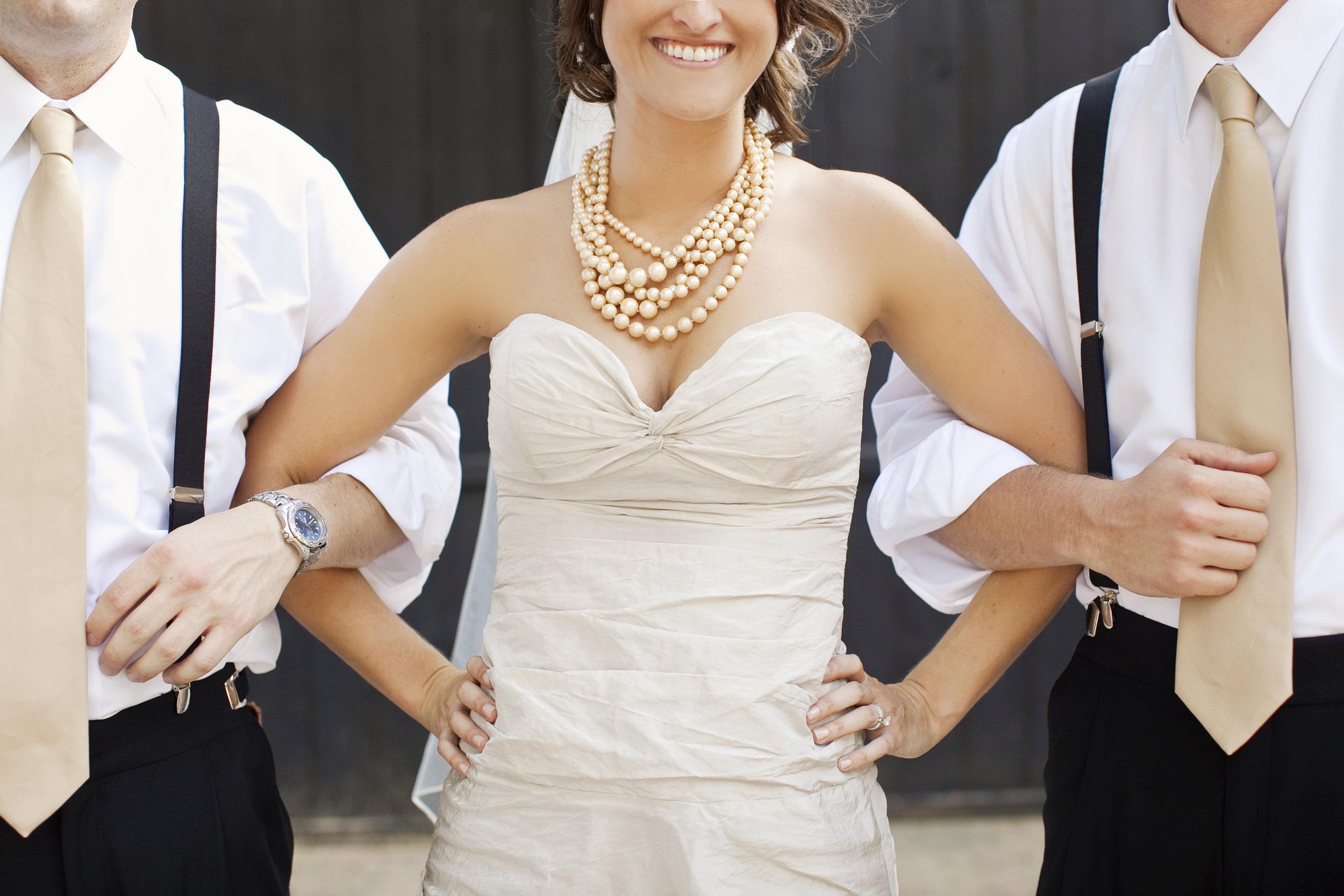 bride and groomsmen / heirloomed