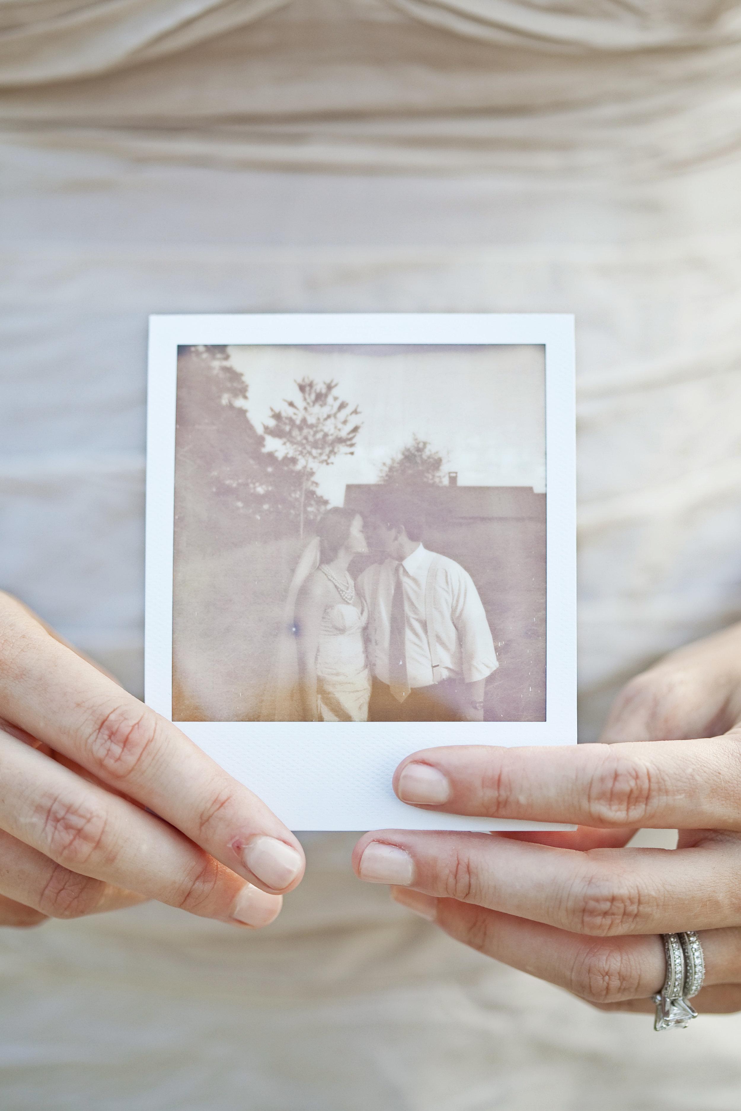 my favorite wedding photo / polariod / heirloomed