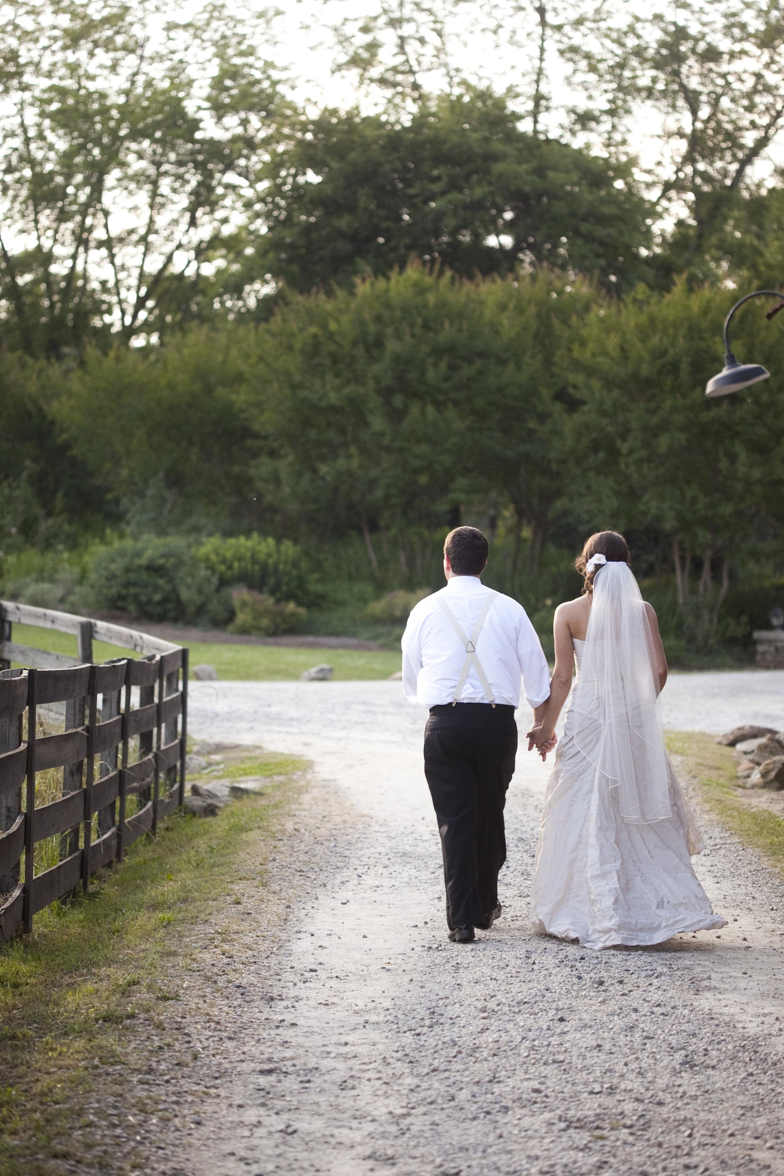 bride and groom rustic farm wedding / heirloomed