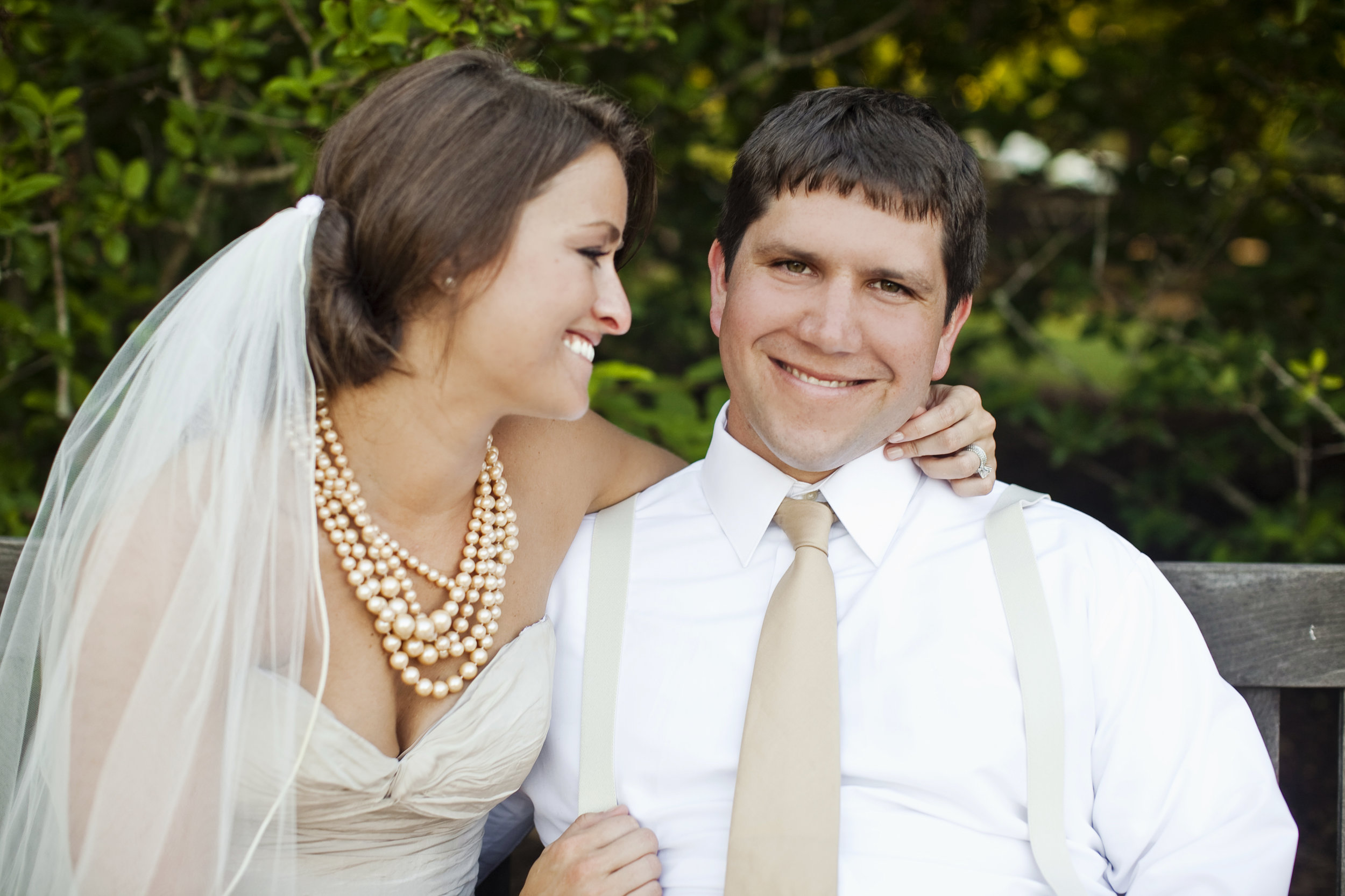 bride and groom / heirloomed