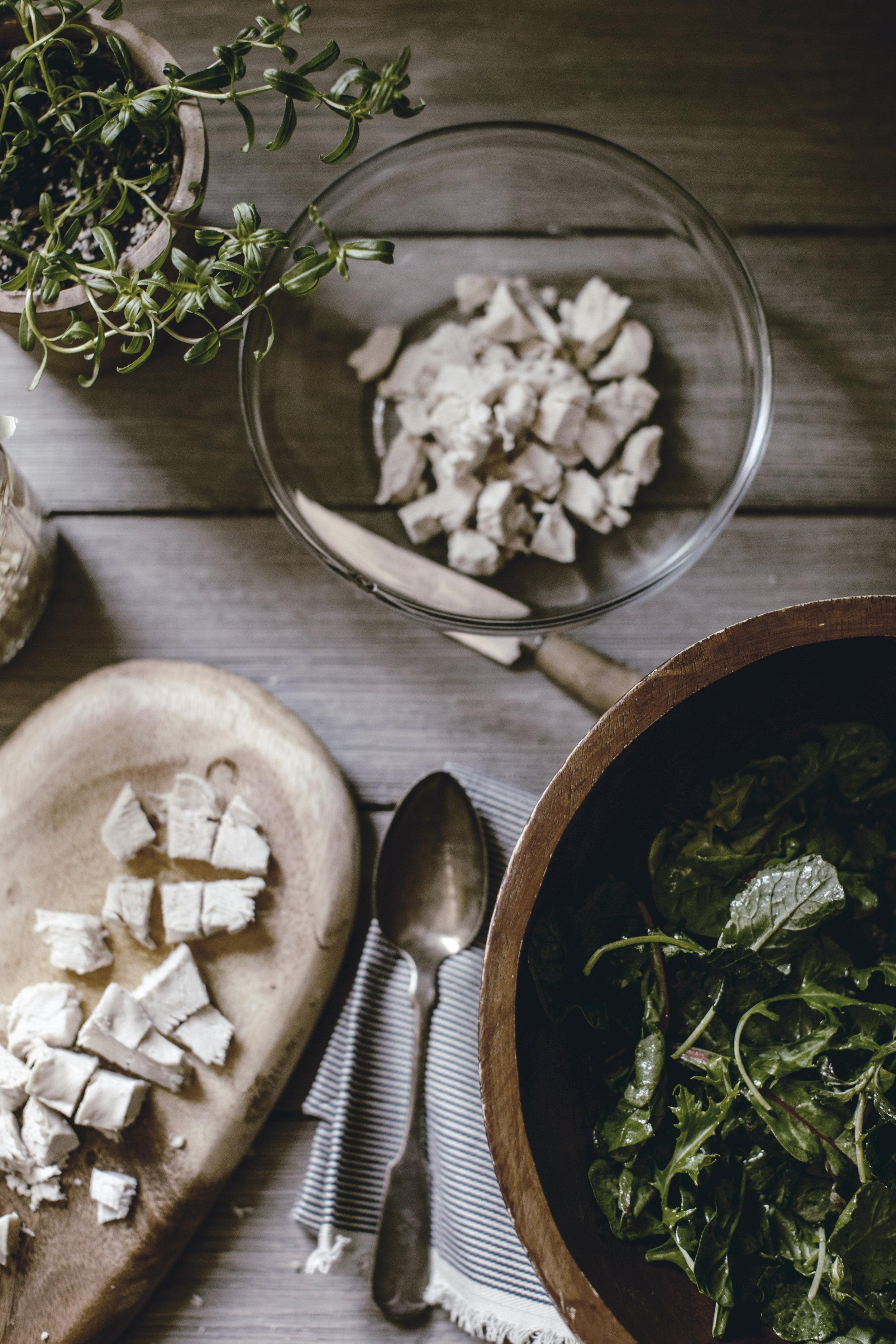 Savory Chicken Salad Salad recipe / heirloomed