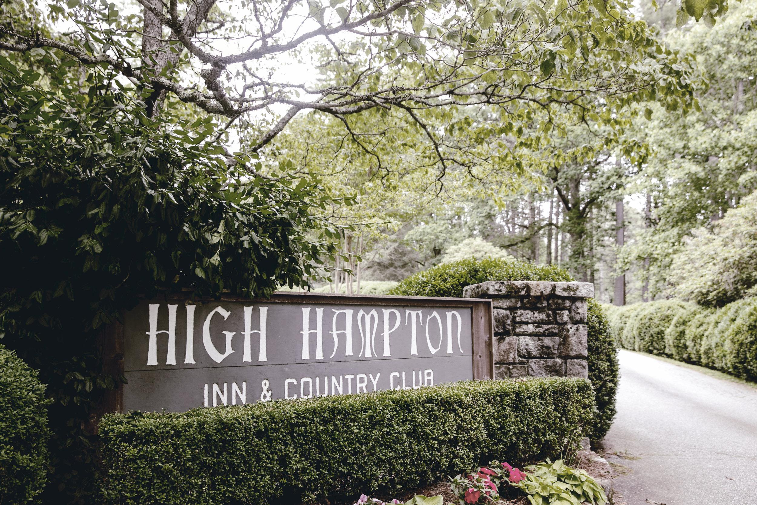 high hampton inn sign / heirloomed