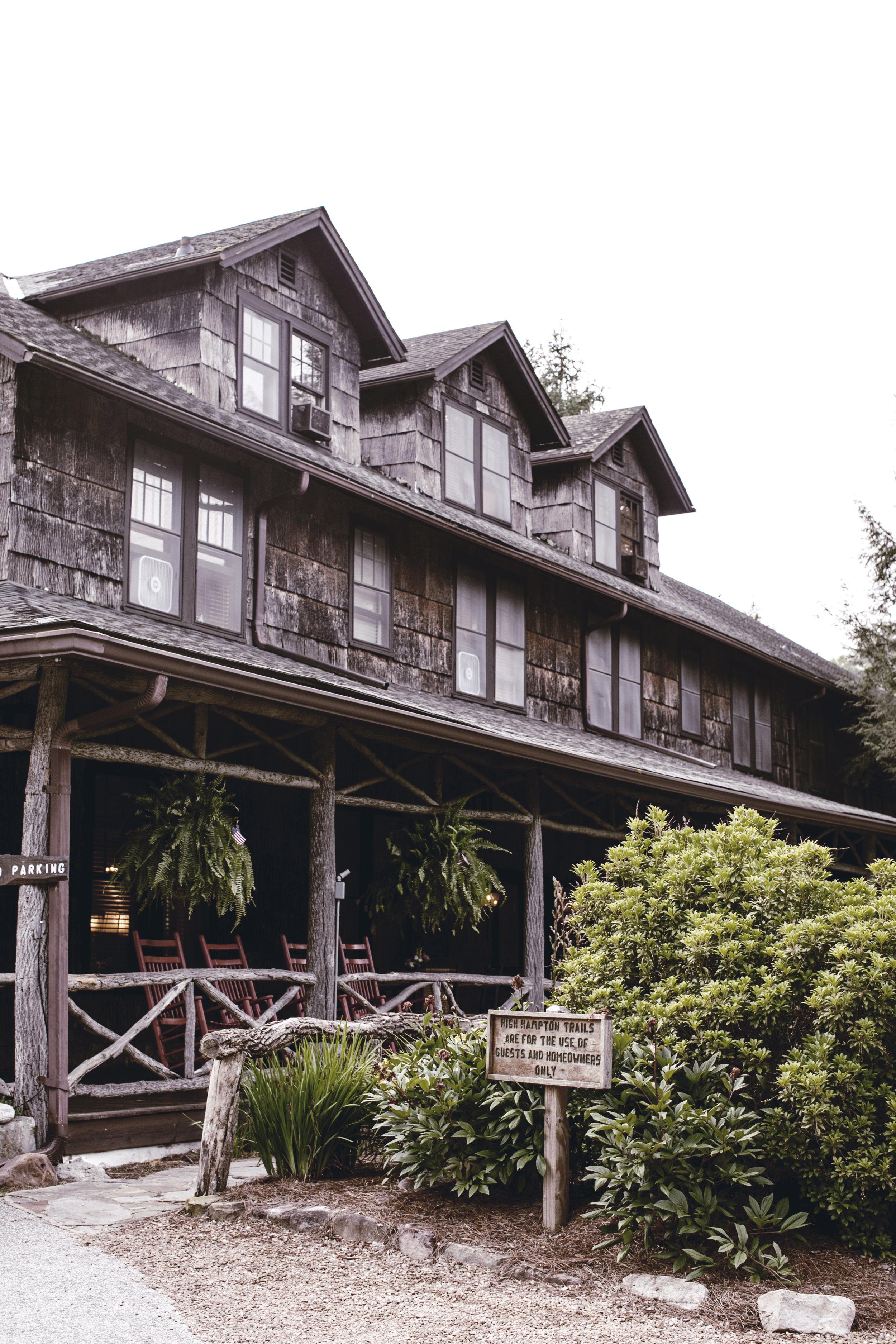 high Hampton inn / cashiers North Carolina / heirloomed