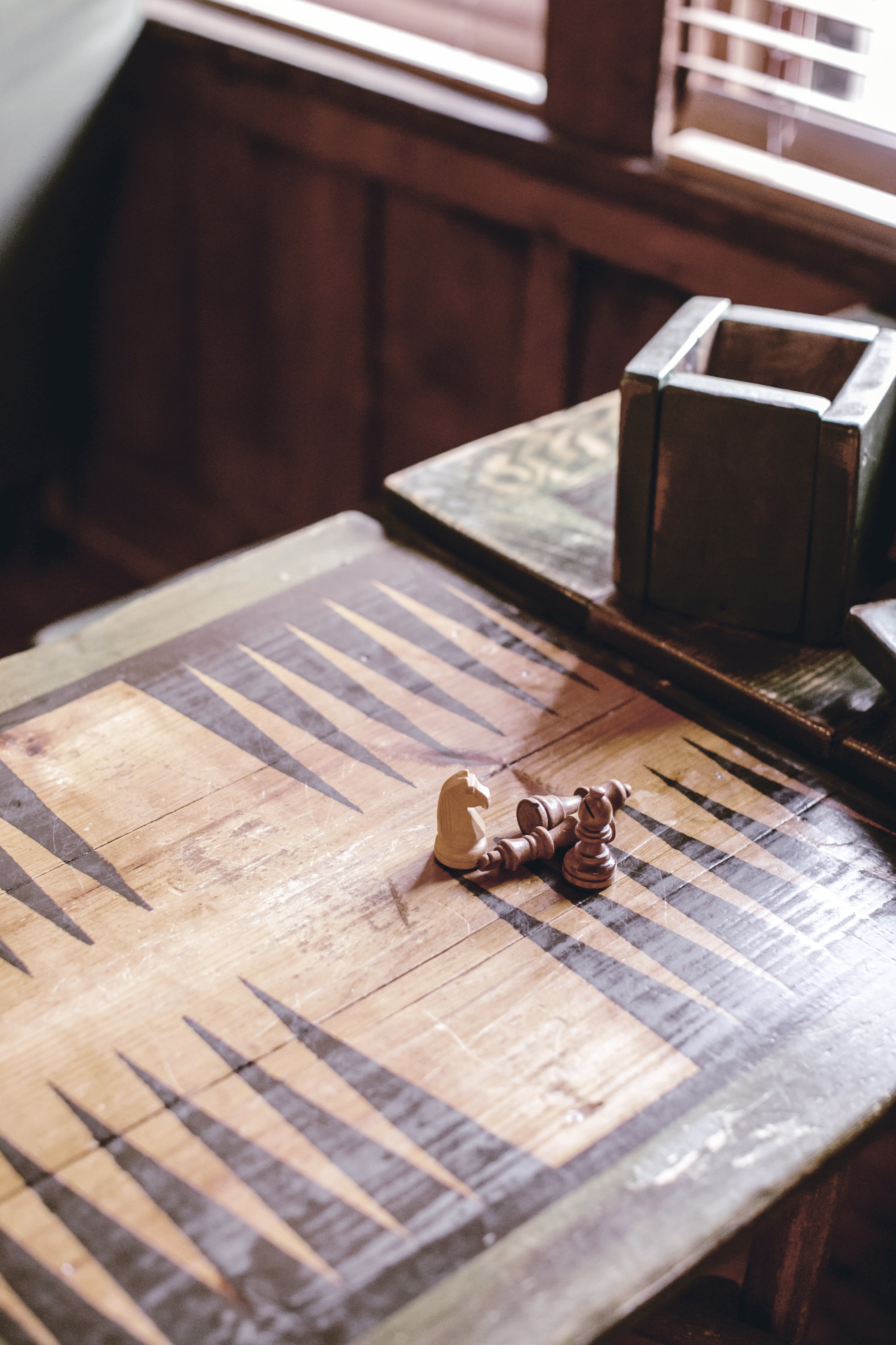 rustic board games at high Hampton inn / heirloomed