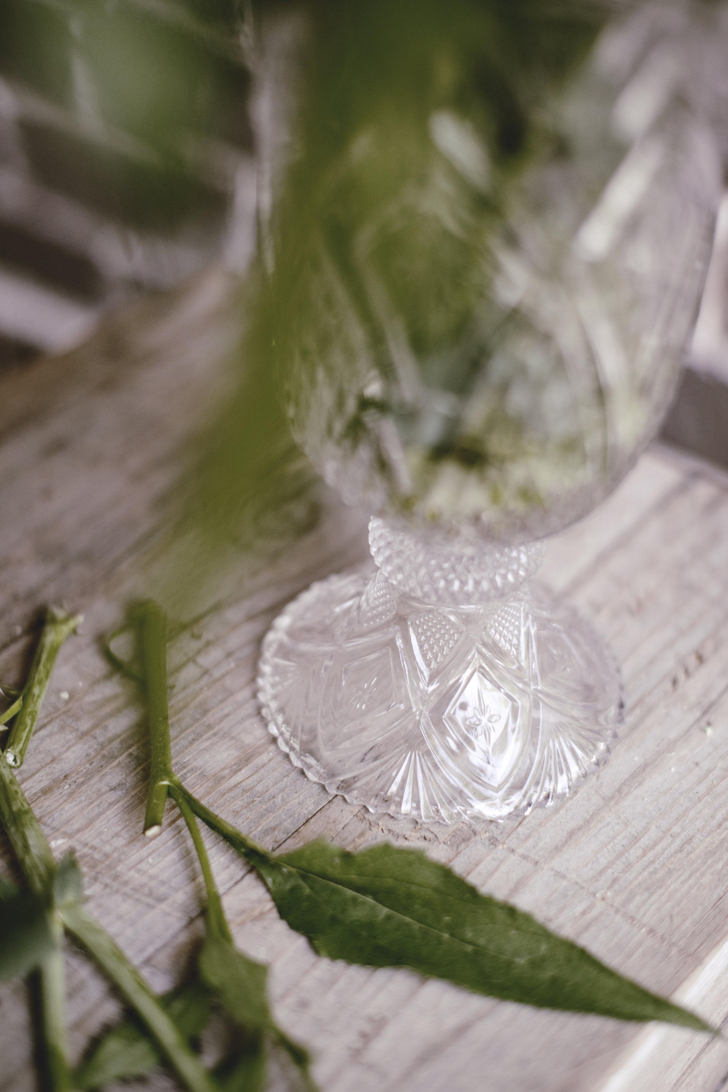 vintage crystal cut vase / heirloomed