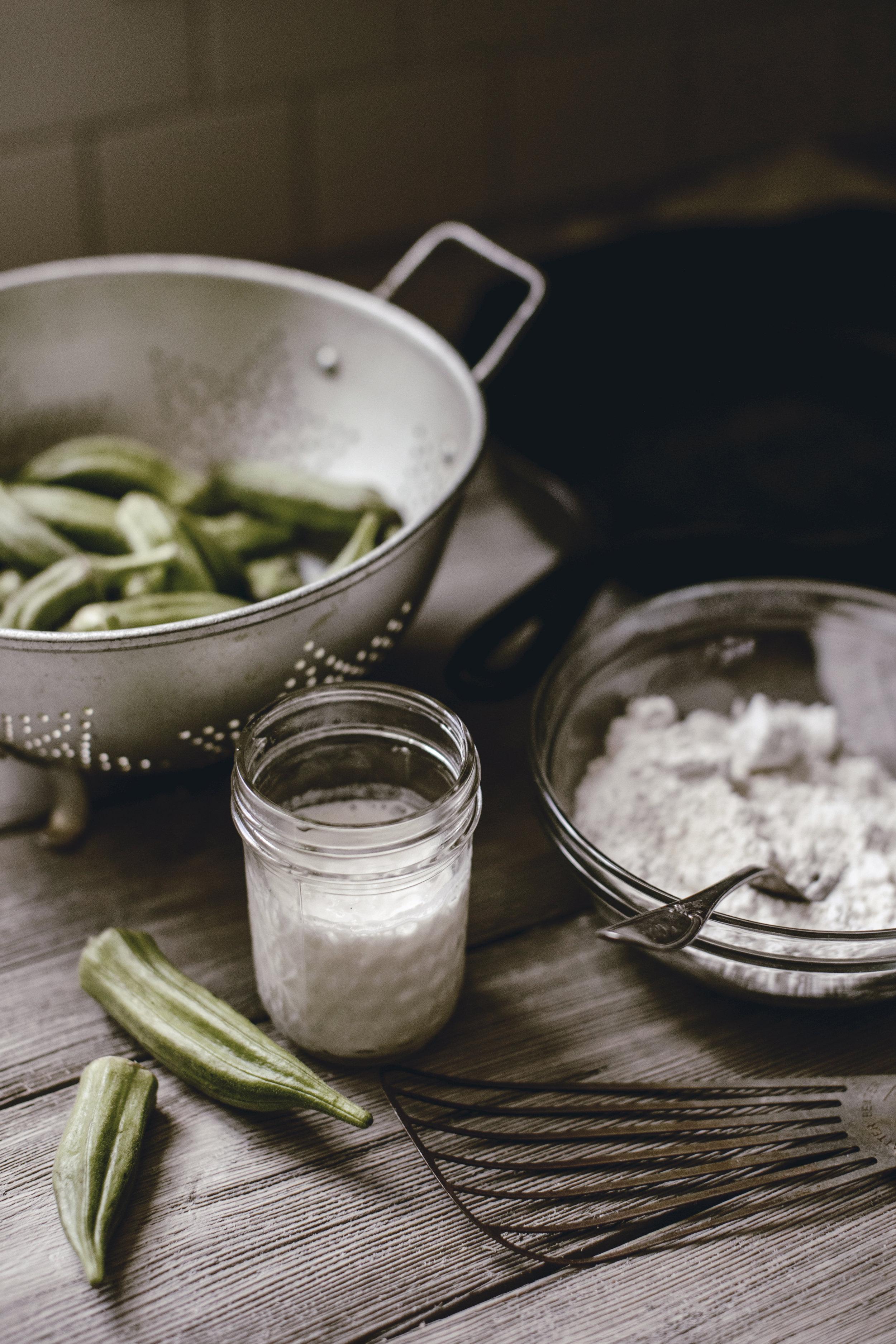 farm fresh okra / fried okra / southern kitchen bucket list / heirloomed