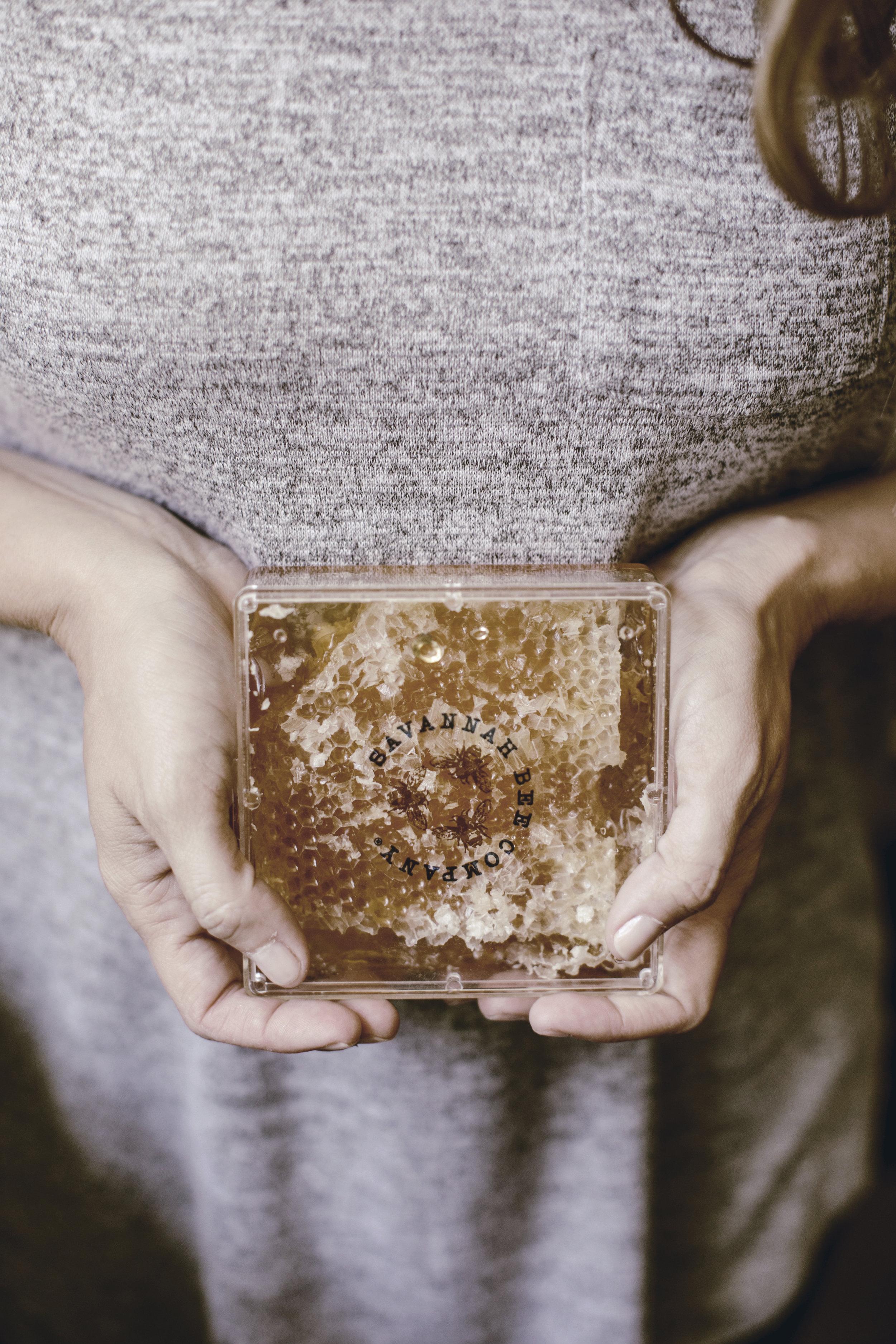 Savannah Bee Company honeycomb honey / heirloomed