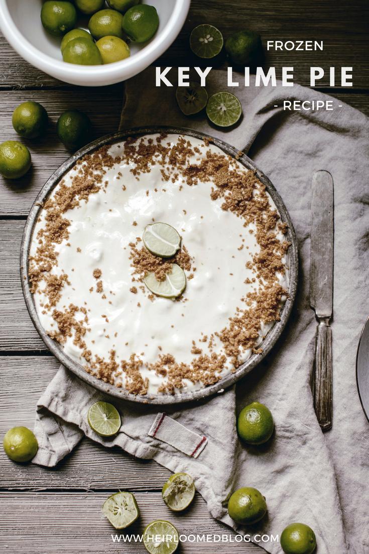 frozen key lime pie recipe / heirloomed