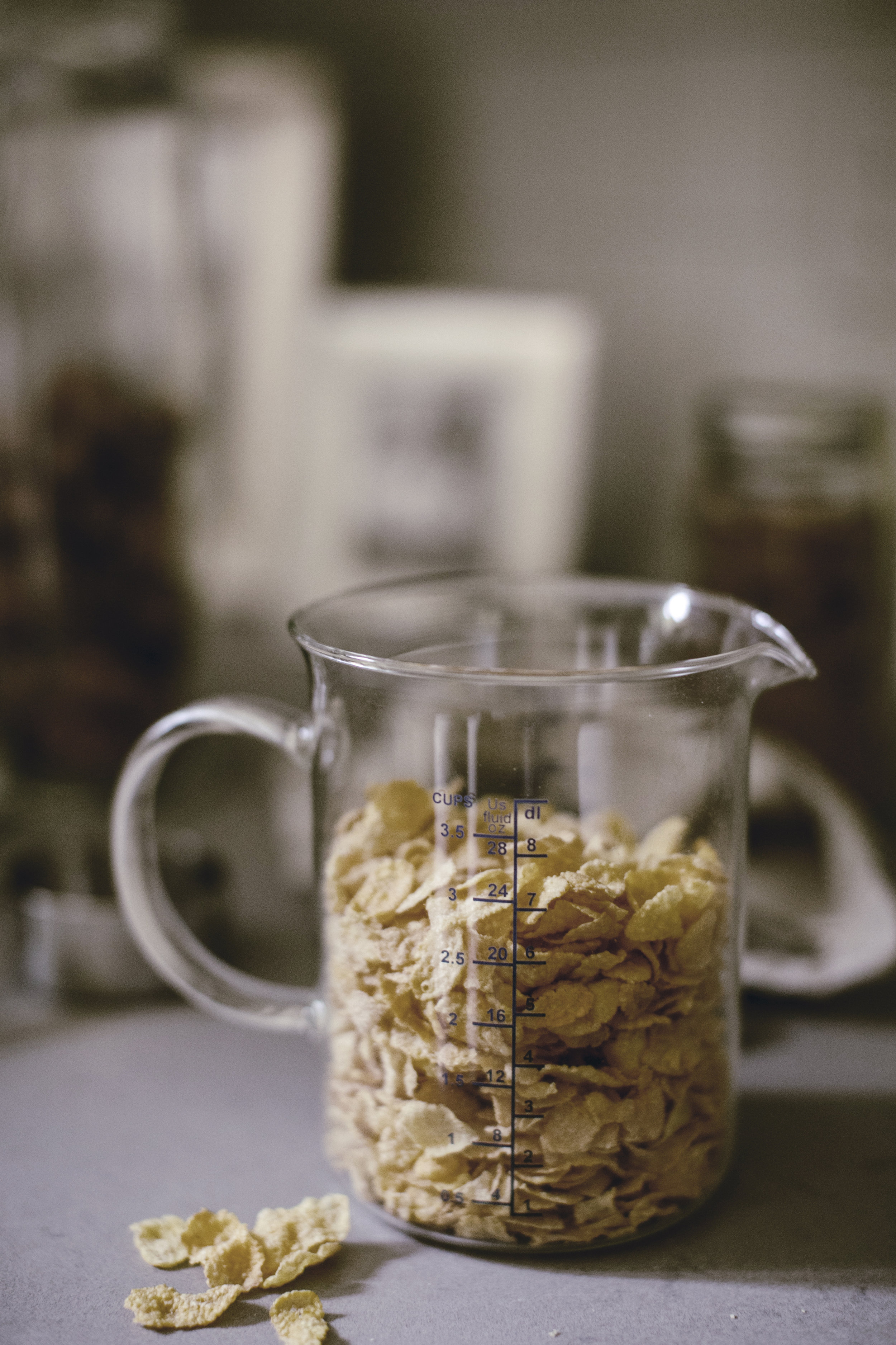 cornflakes cereal for praline ice cream topping / heirloomed