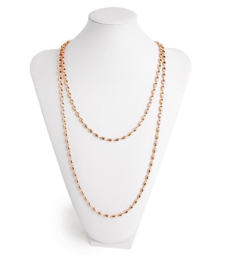 rose gold rice beads