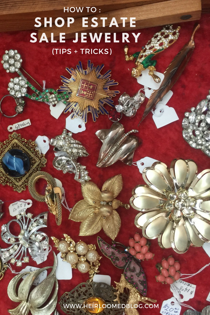 how to shop estate sale and vintage jewelry / heirloomed