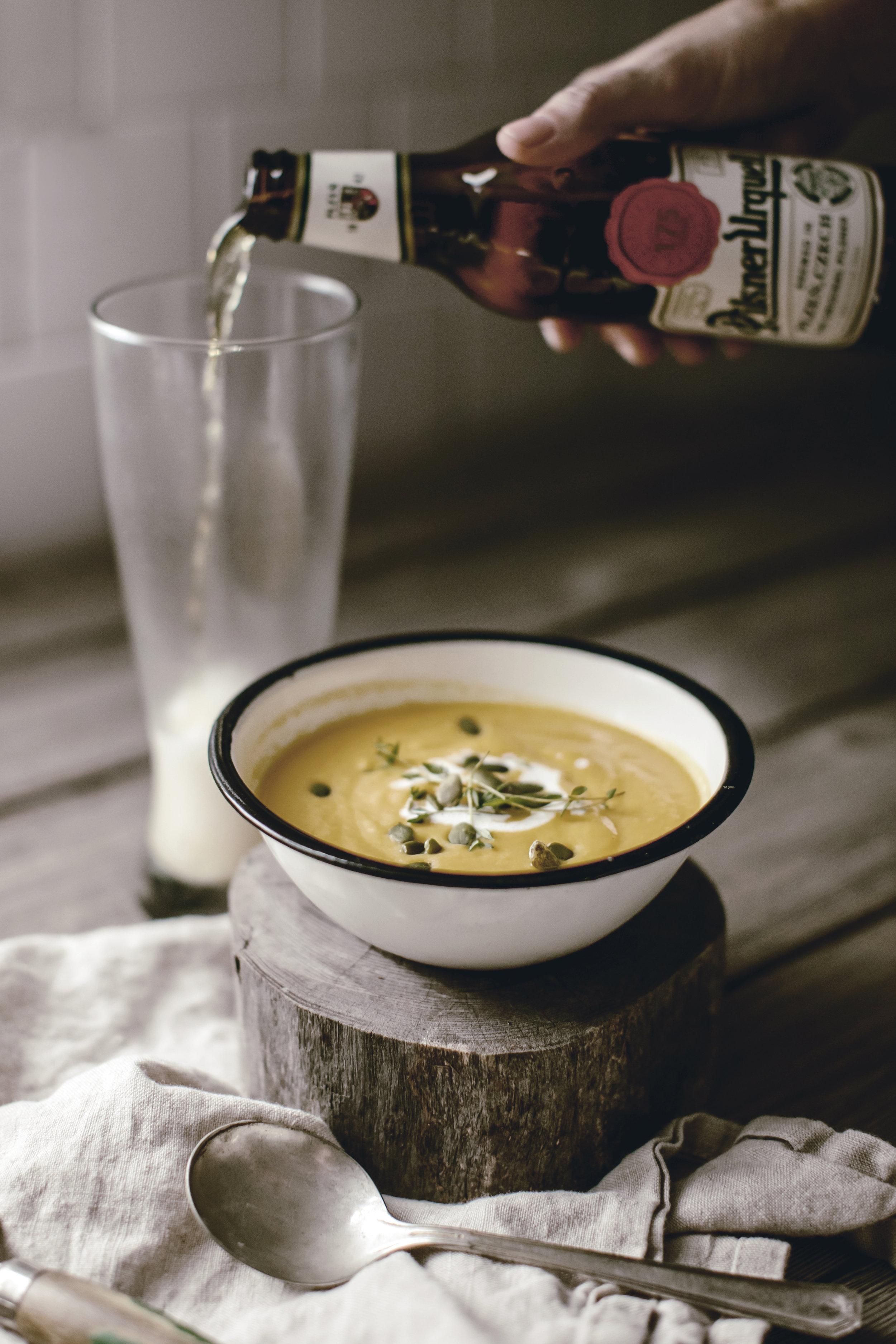 beer + soup pairings / pilsner and soup / heirloomed