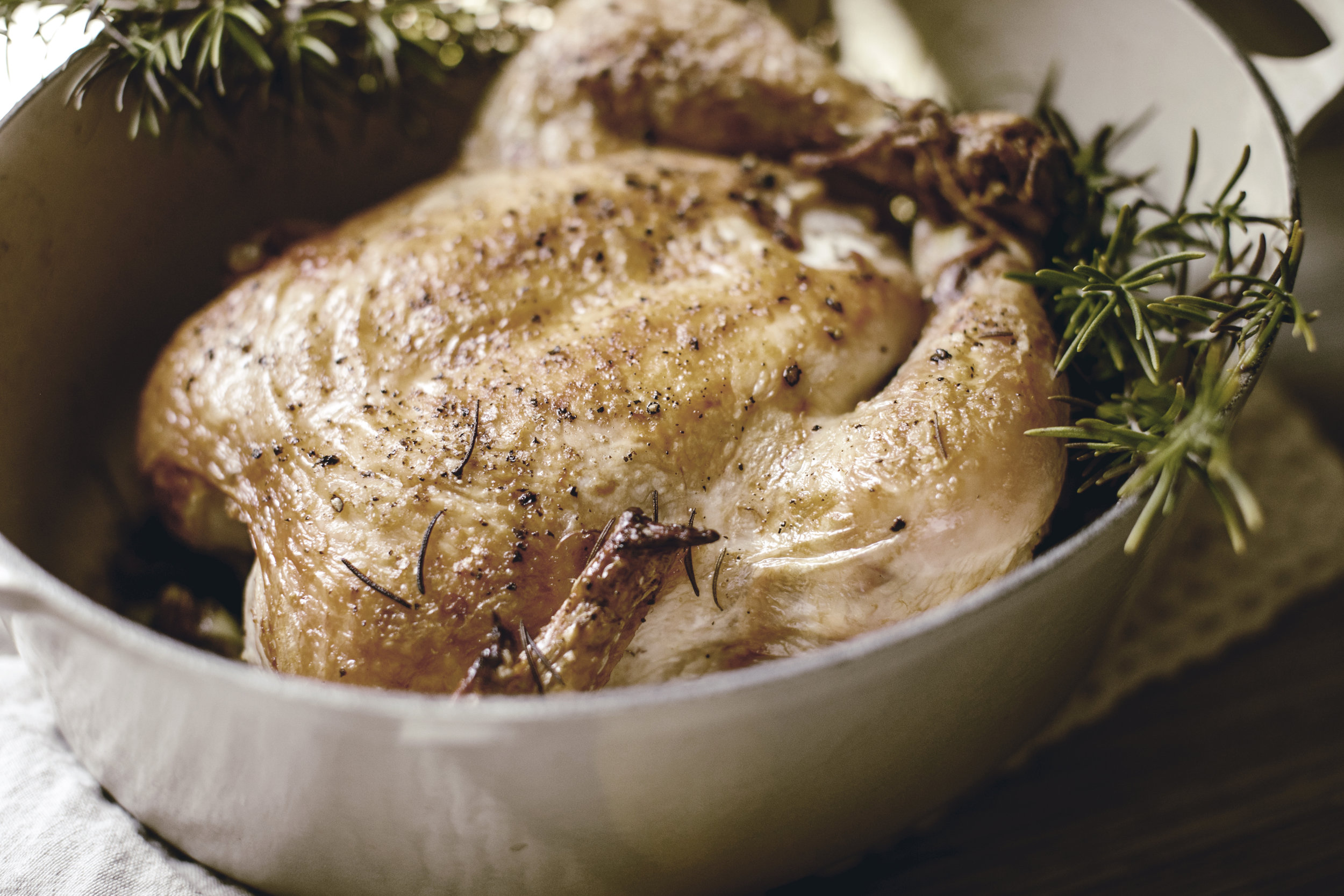 easy recipe for whole roasted chicken / heirloomed