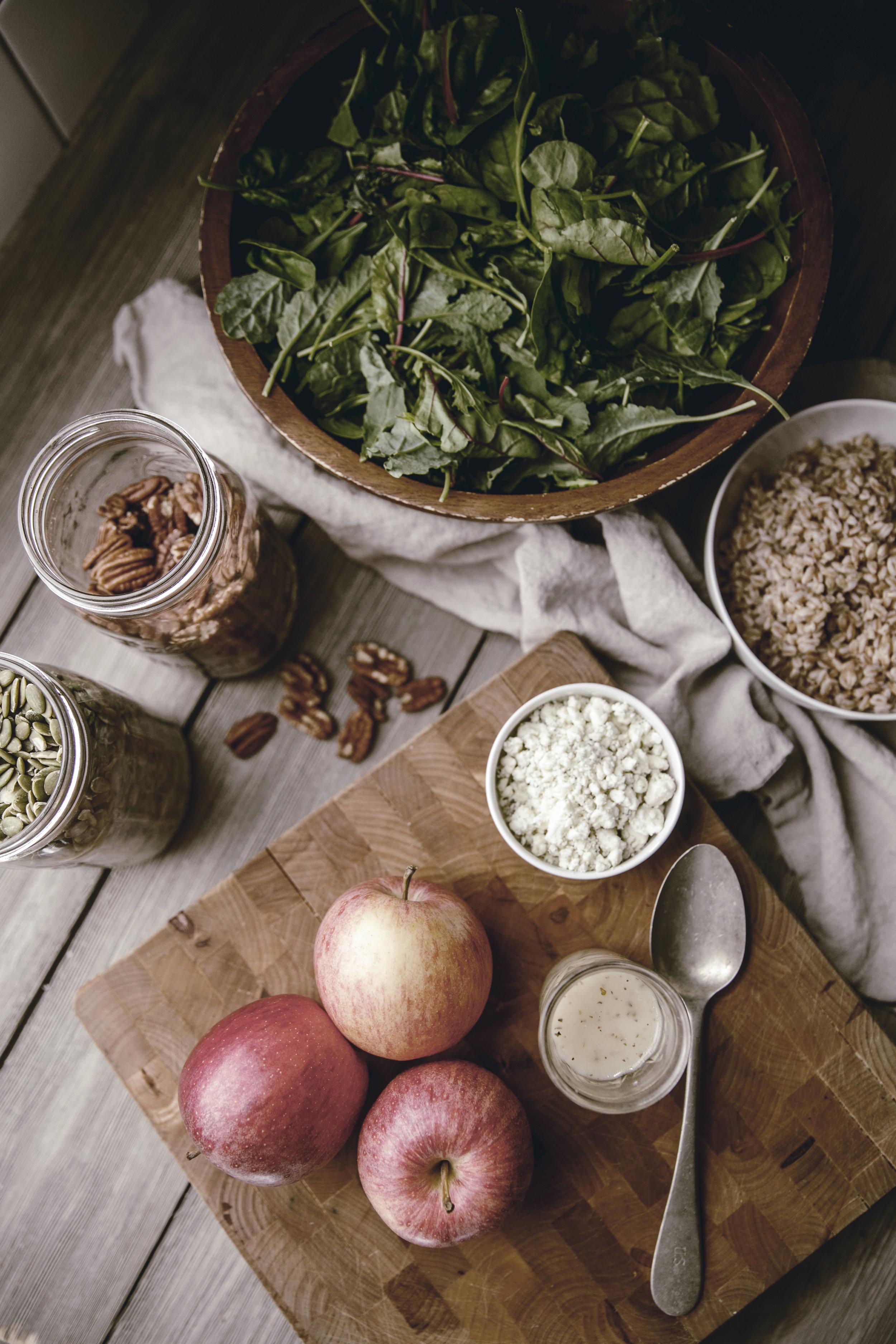 Apple Harvest Salad and Apple Cider Dressing