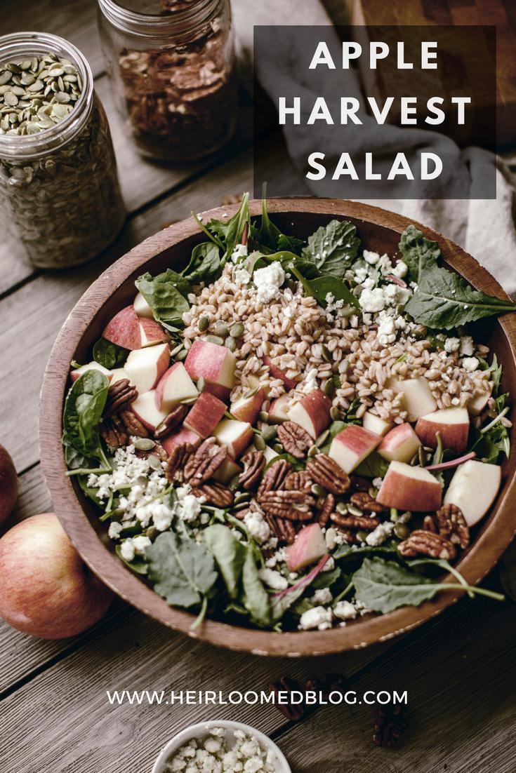 Pinterest Apple Harvest Salad and Apple Cider Vinegar Salad Dressing