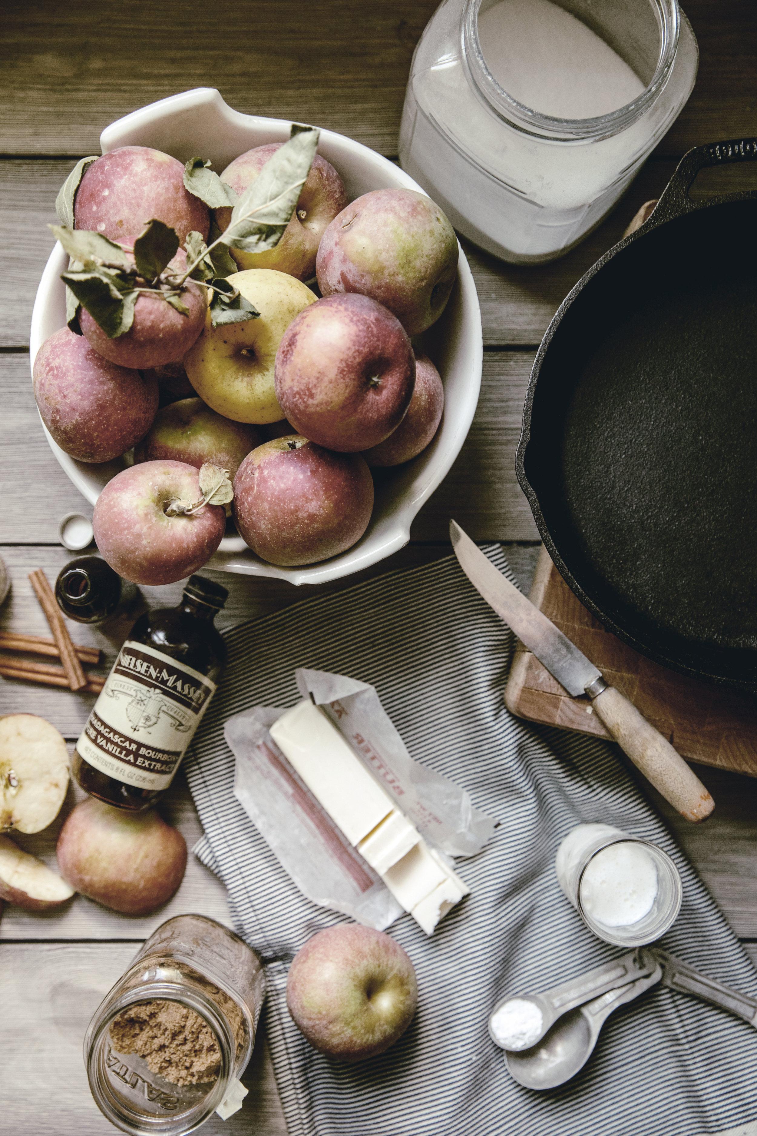Apple Skillet Cobbler ingredients