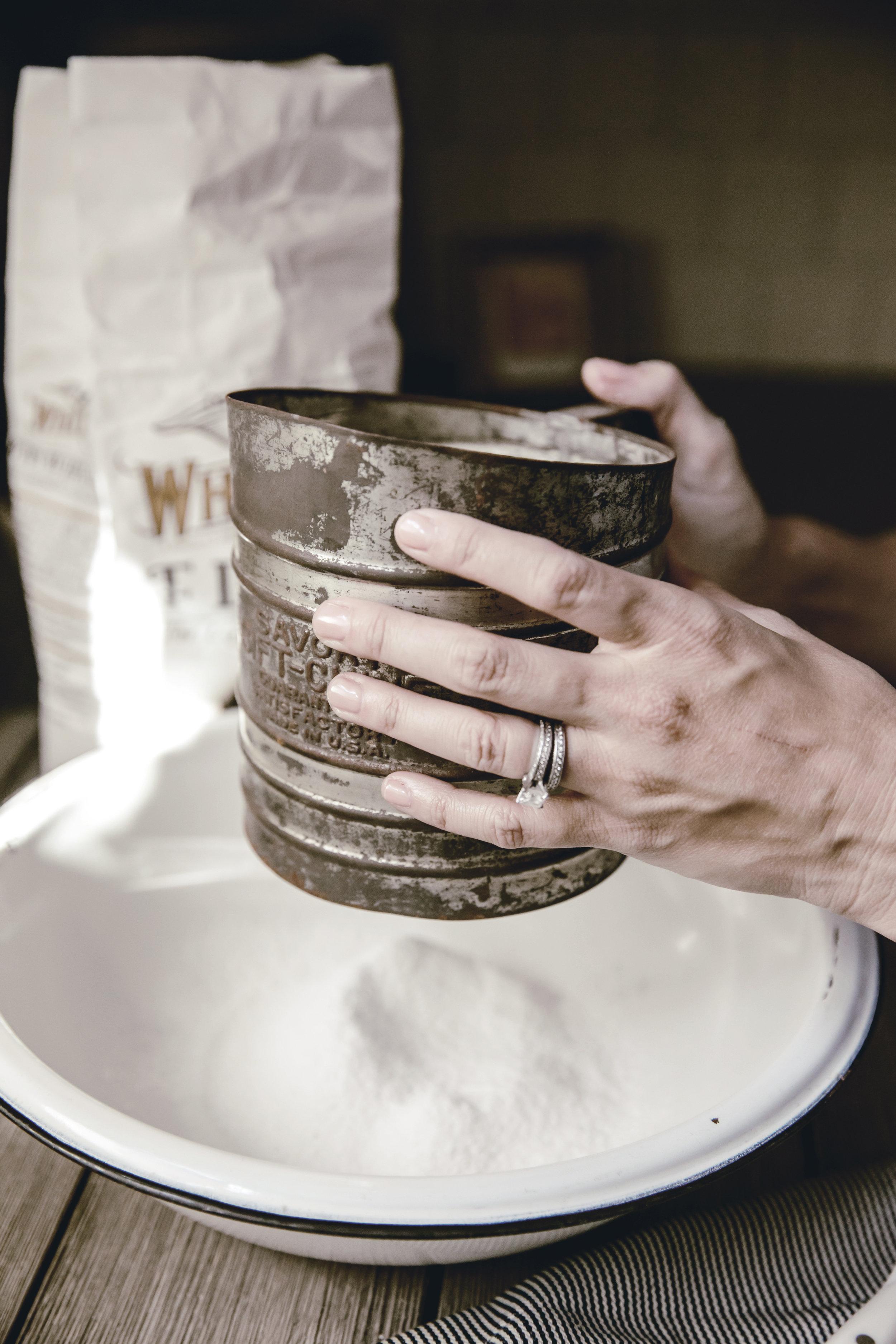 vintage flour sifter / heirloomed