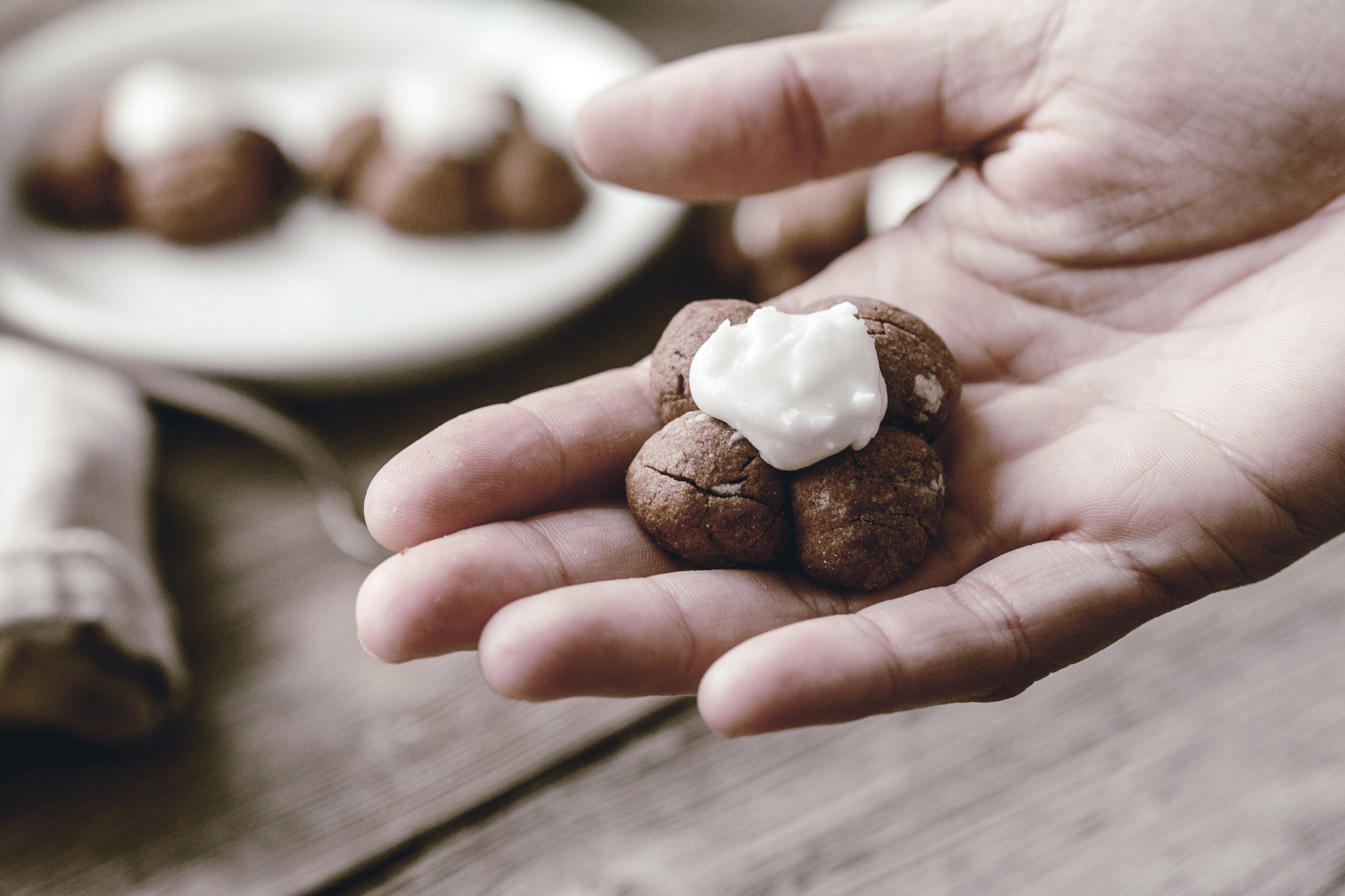 chocolate spritz cookie / heirloomed