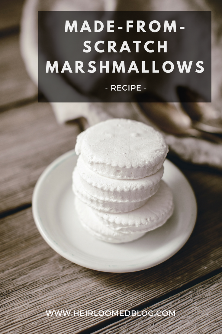 made from scratch marshmallows pinterest / heirloomed