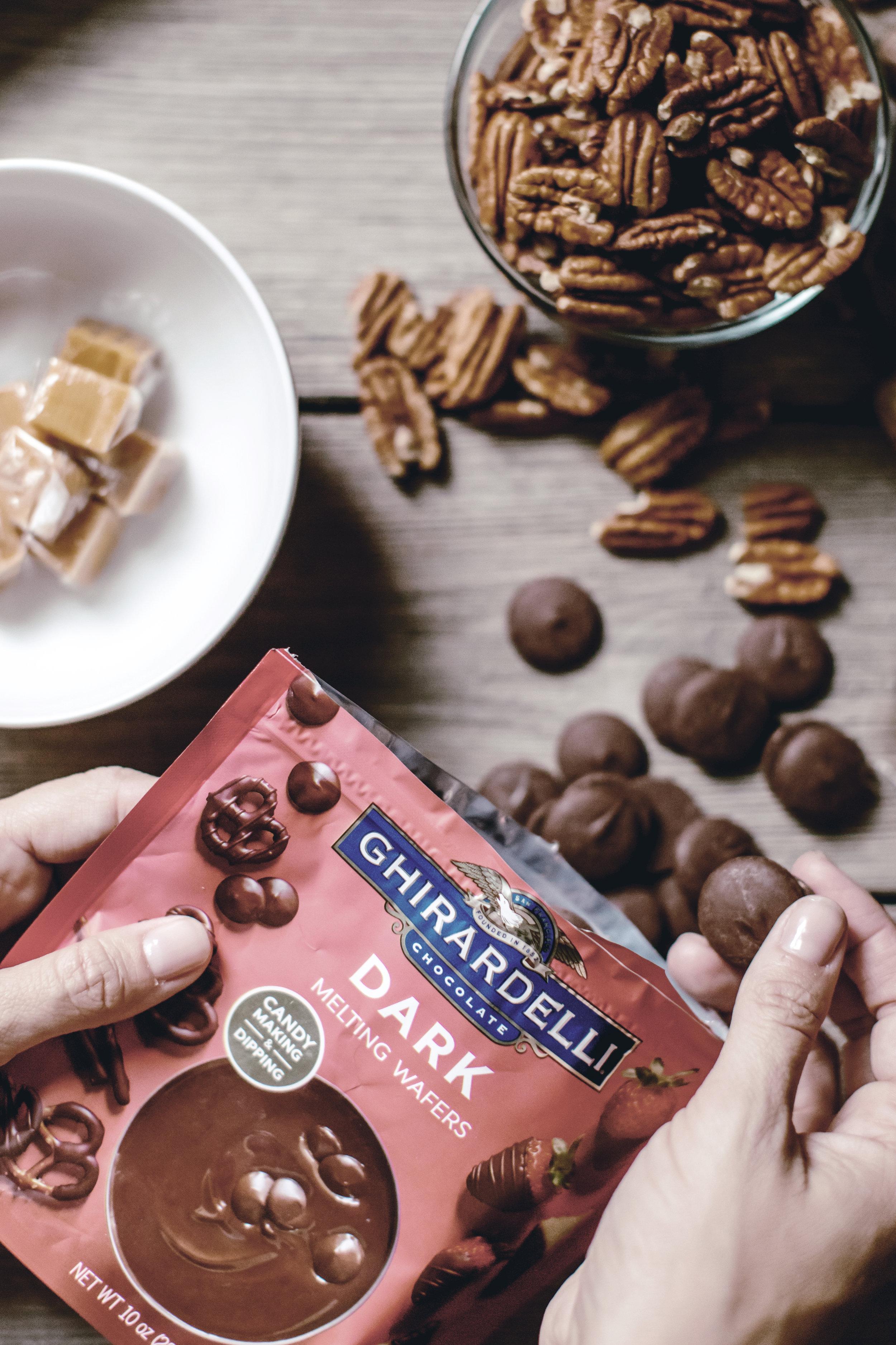 chocolate caramel turtles / heirloomed