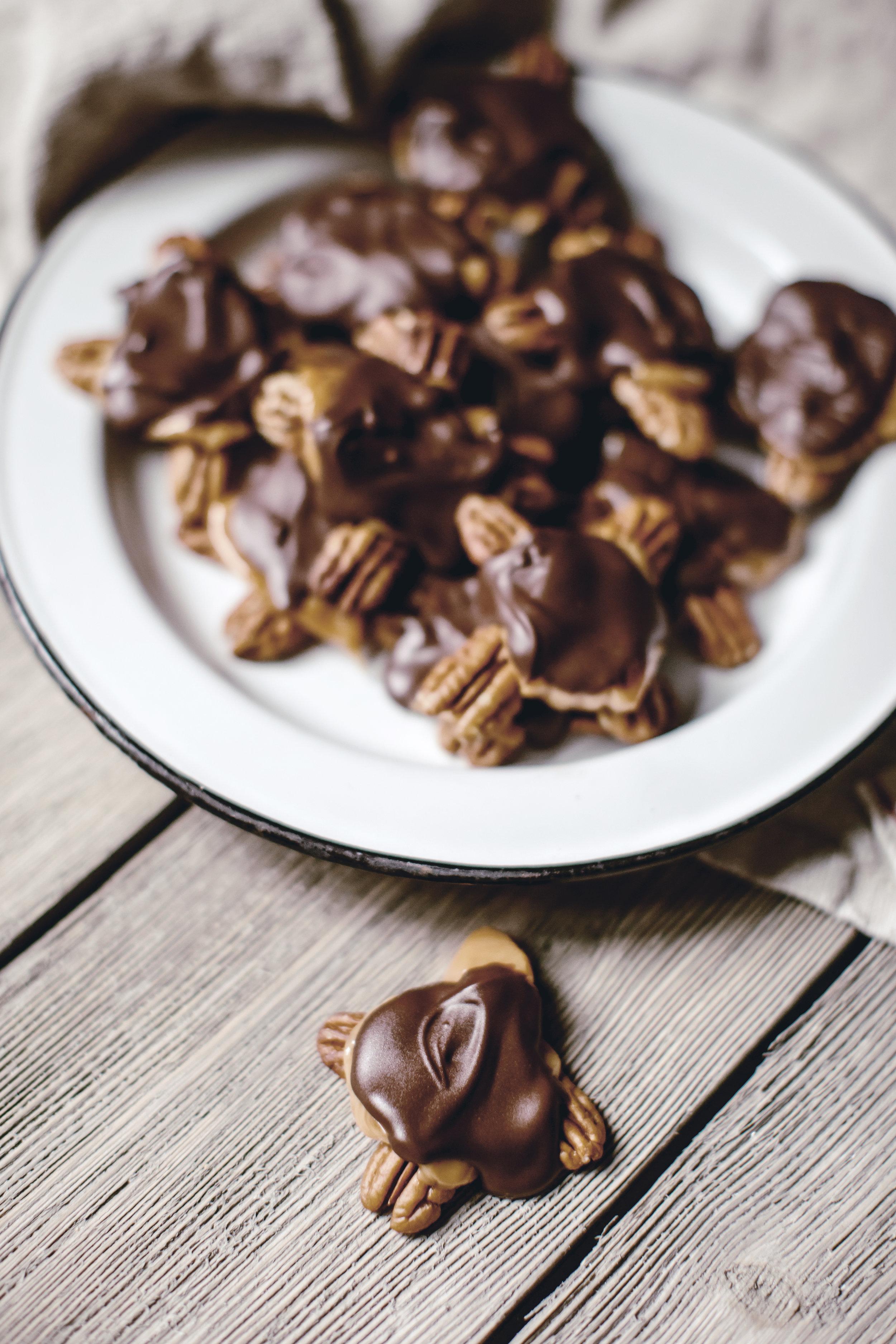 chocolate caramel turtle / heirloomed