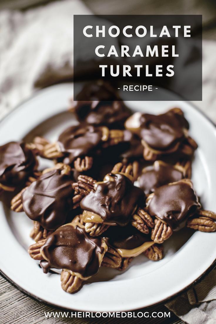 chocolate caramel turtles pinterest / heirloomed
