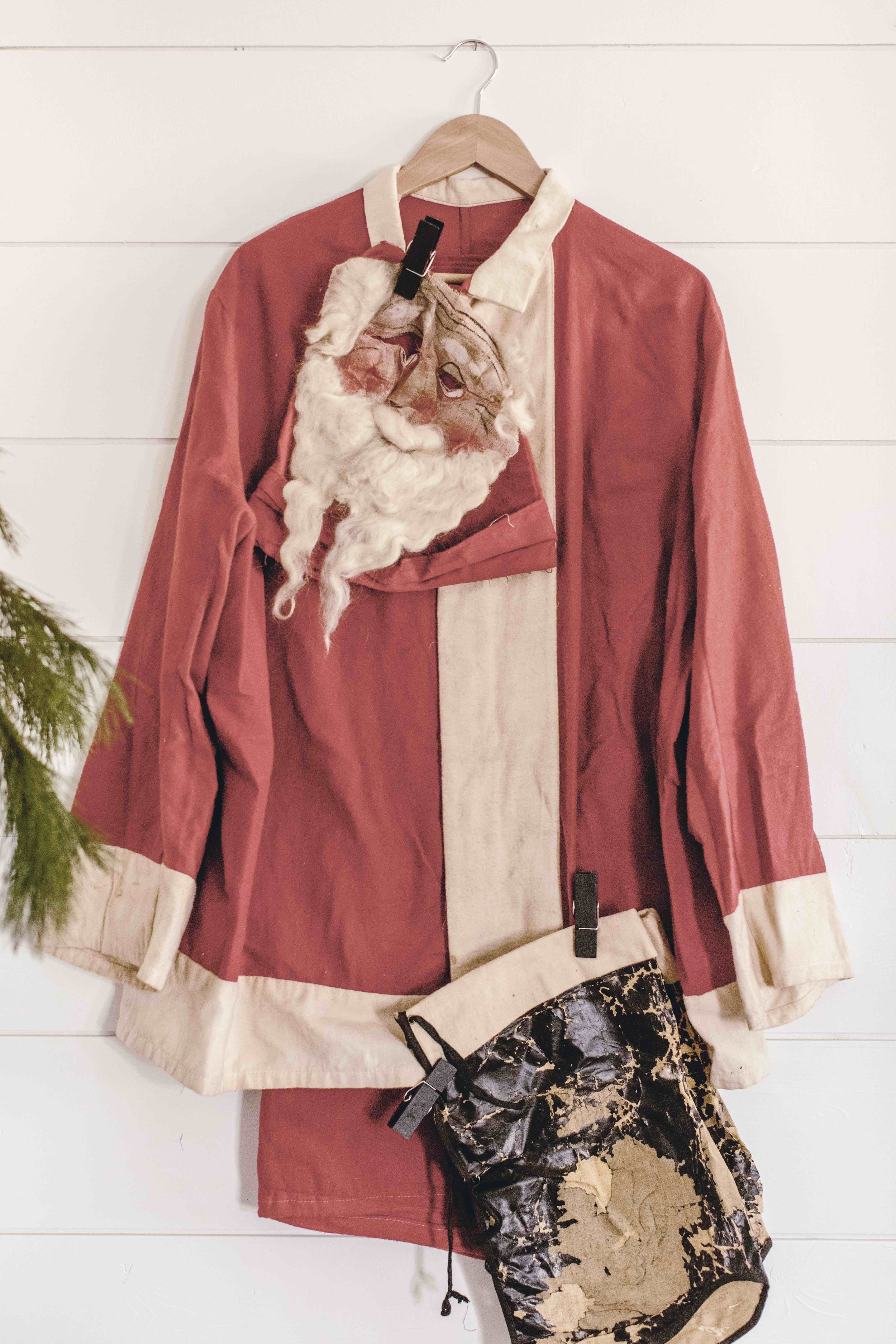 vintage Santa suit / heirloomed
