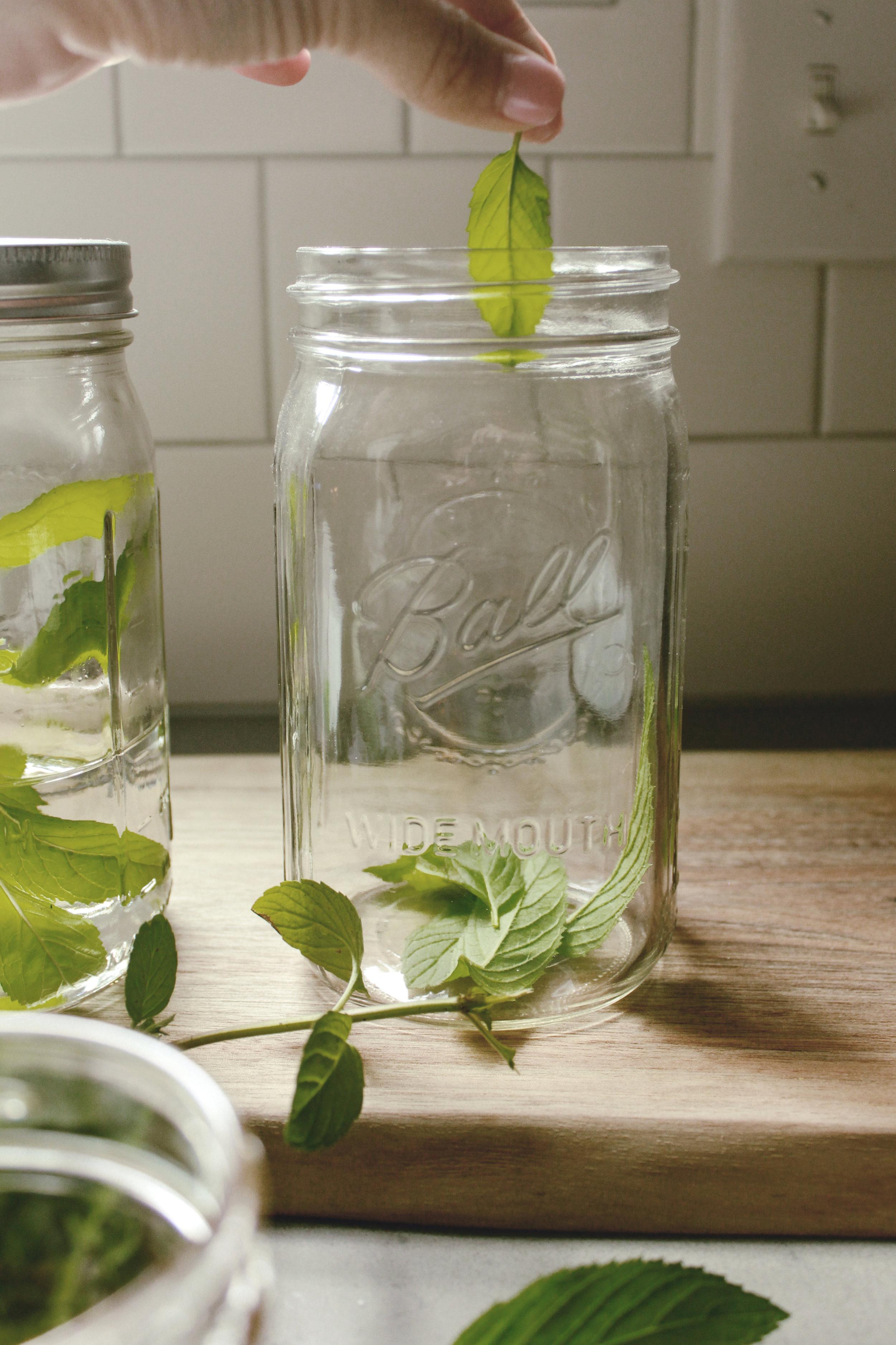 muddling mint leaves for mint juleps / heirloomed