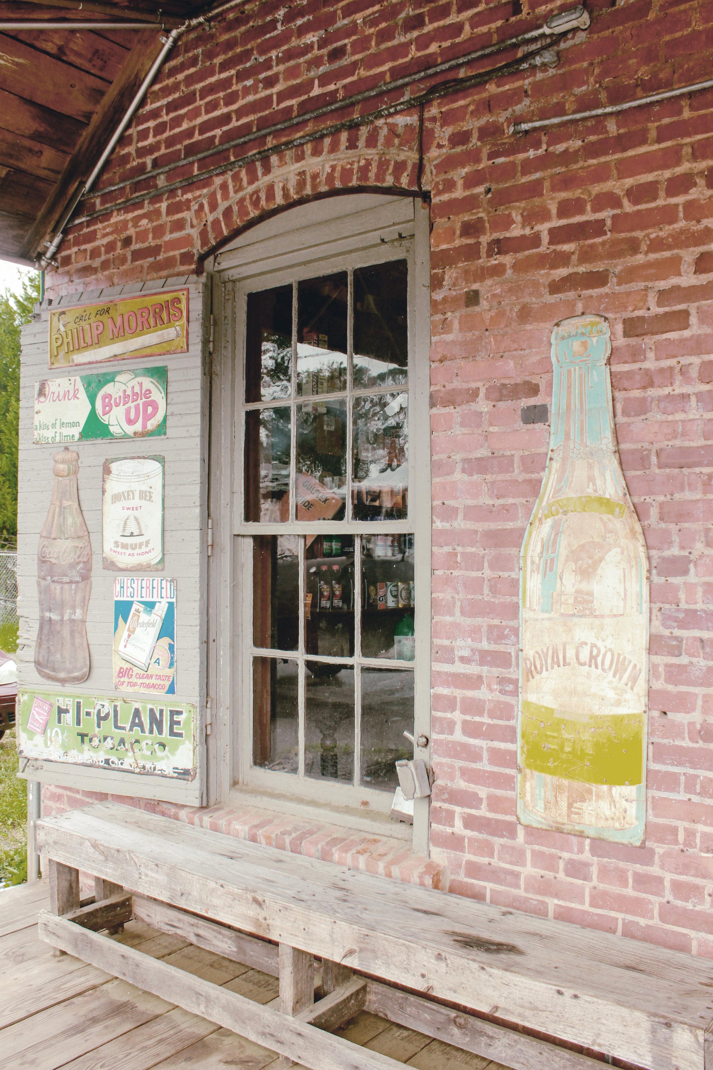 vintage metal general store signs / heirloomed travel