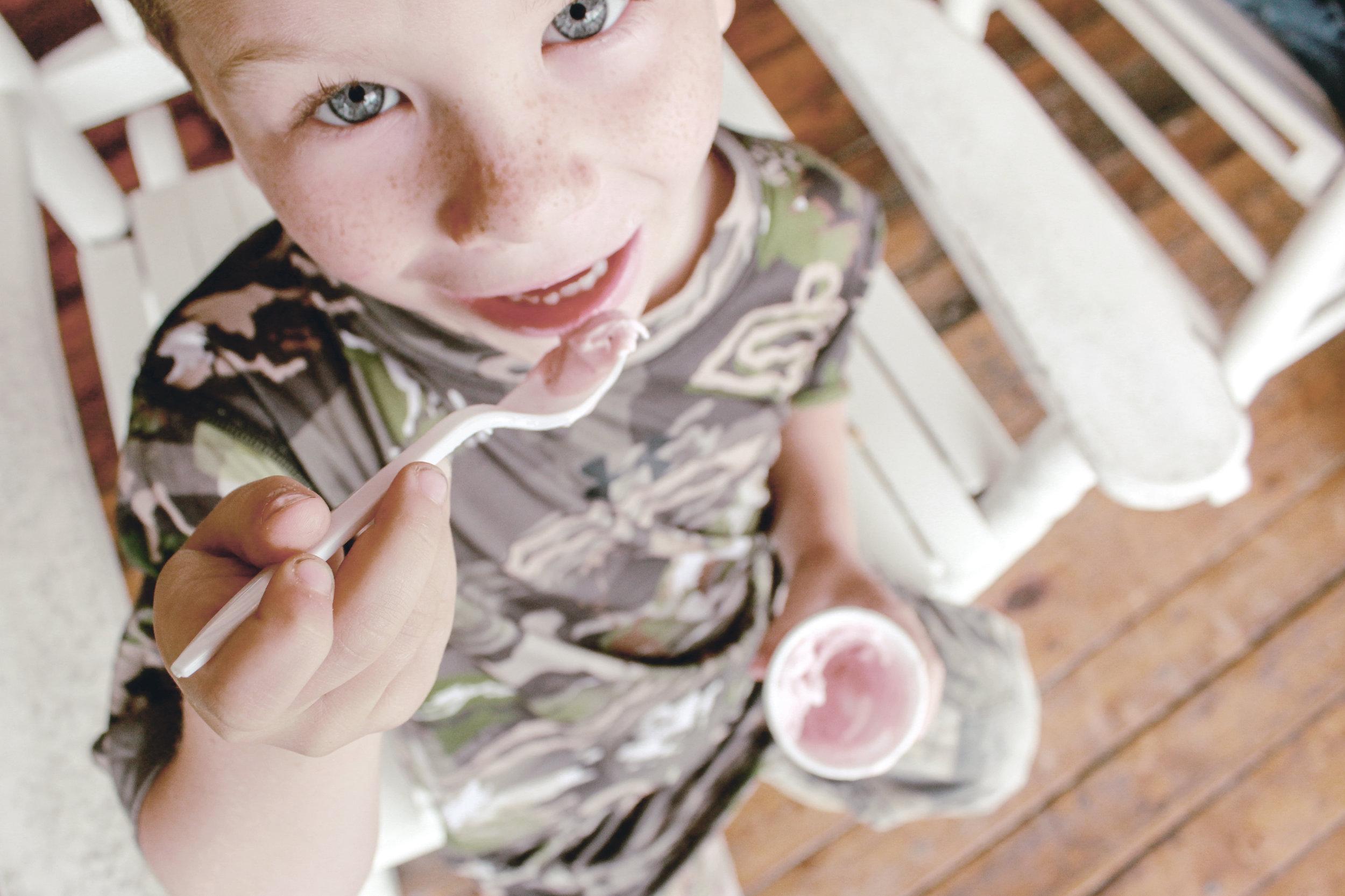 fresh strawberry ice cream / heirloomed travel