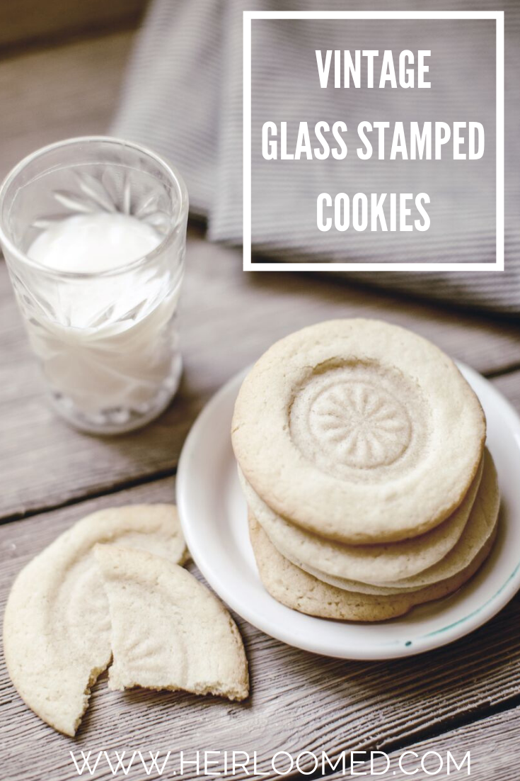 GLASS STAMPED COOKIES / heirloomed
