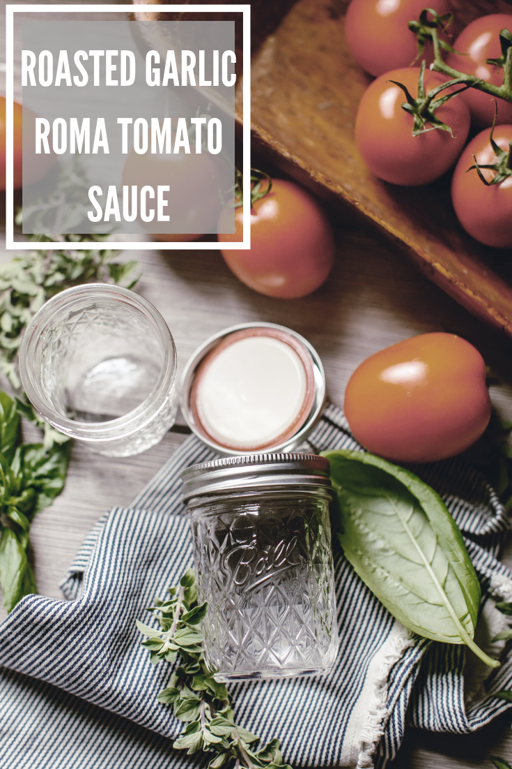 Roasted Garlic Tomato Sauce Recipe / heirloomed for Ball Fresh Preserving Products
