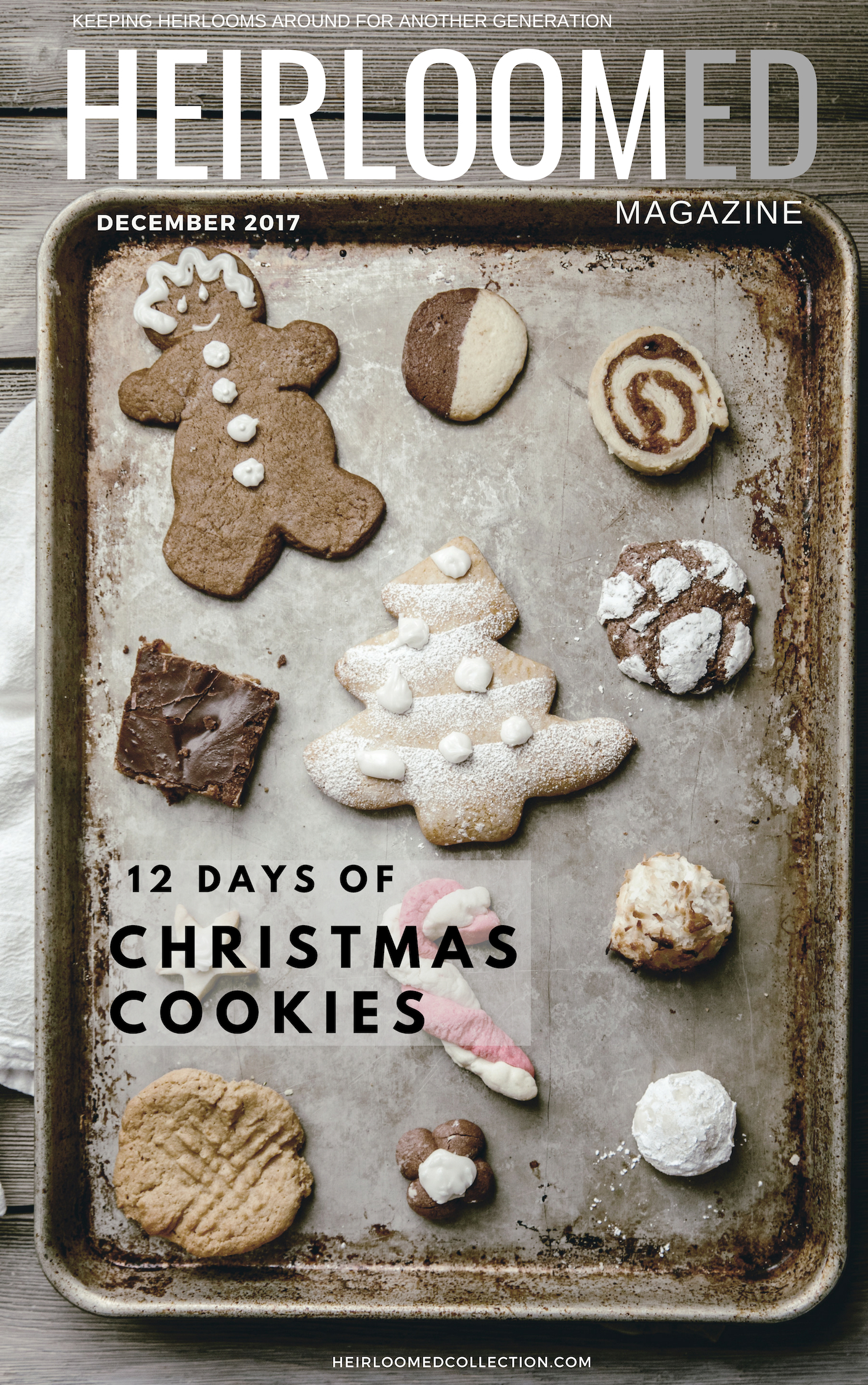 12 Days of Christmas Cookies / Free Download / heirloomed magazine