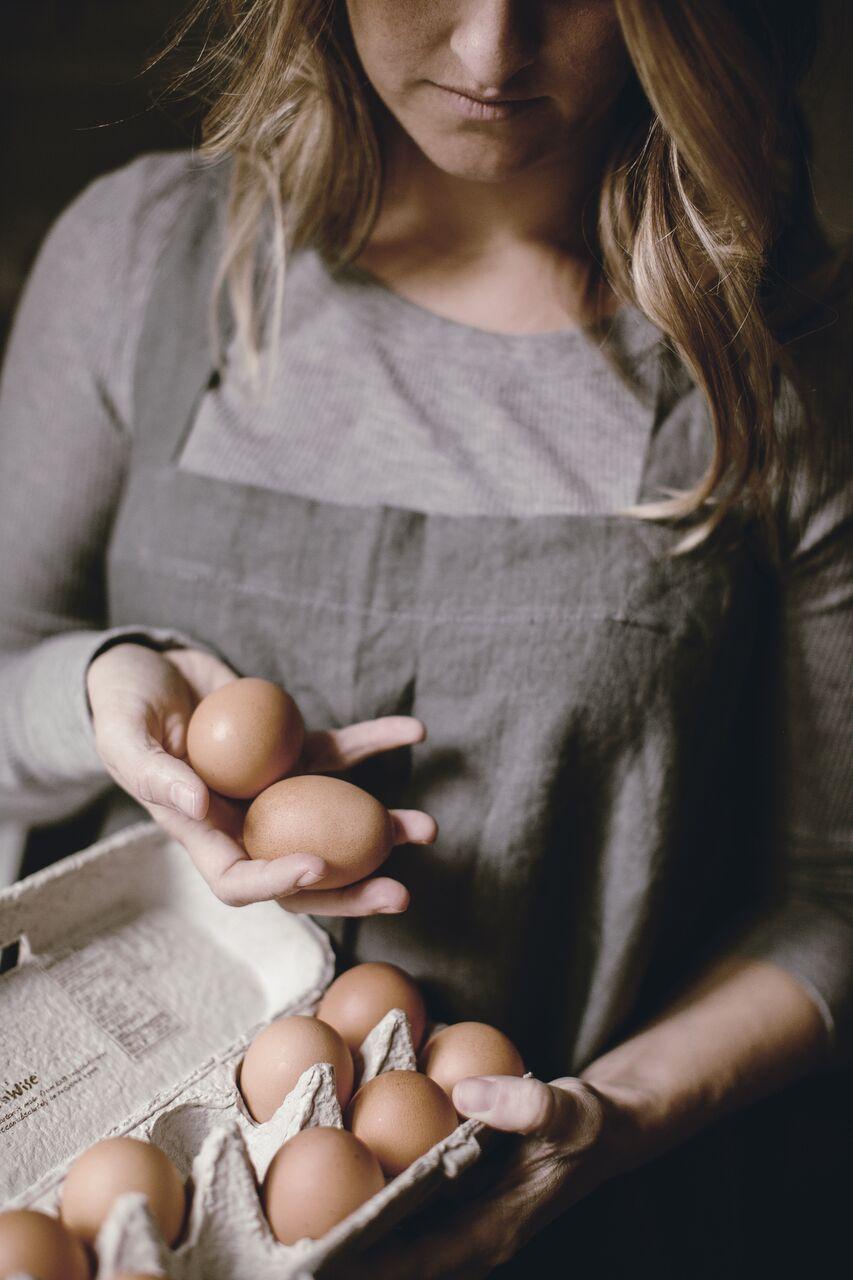 fresh eggs / heirloomed