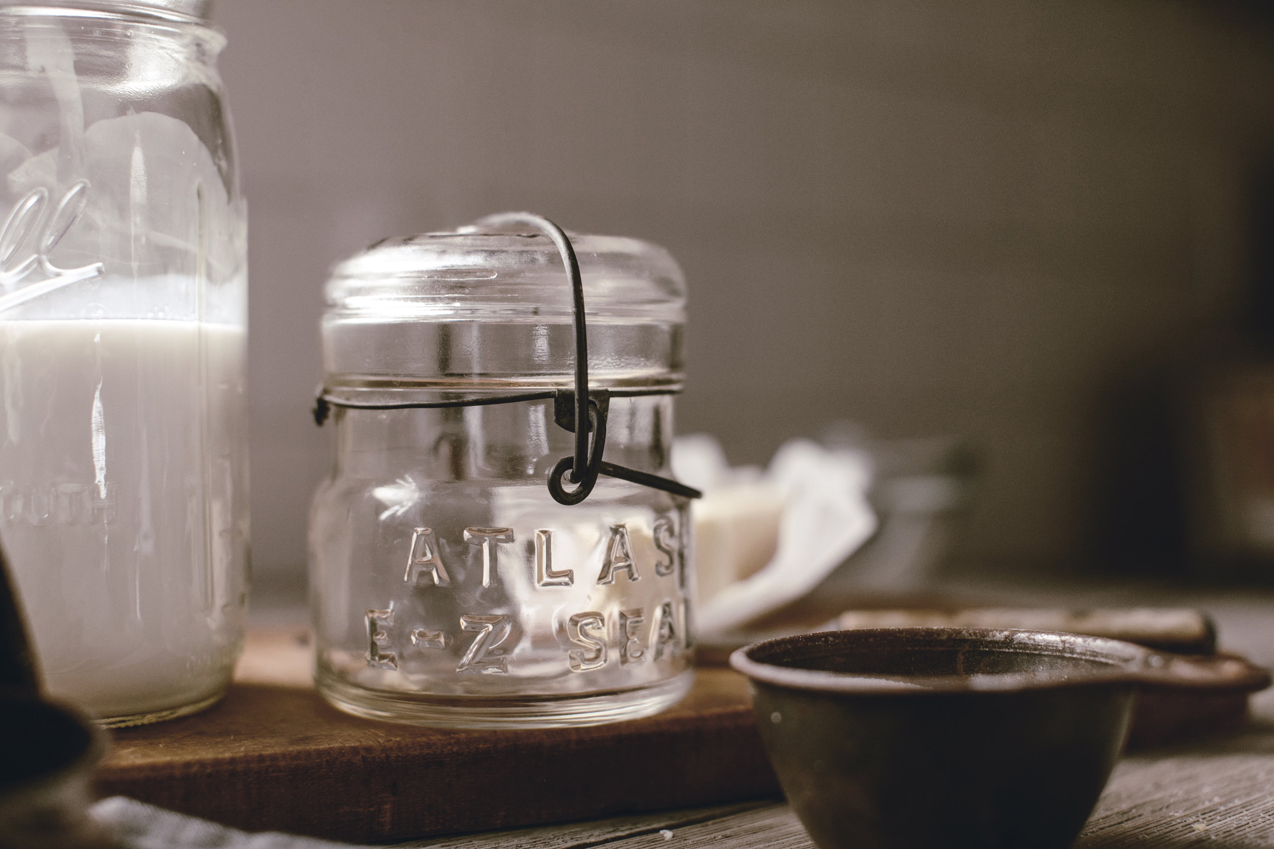 atlas mason jar / heirloomed
