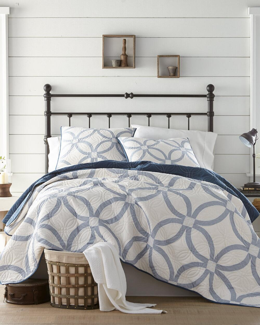 heirloomed something blue wedding ring quilt collection